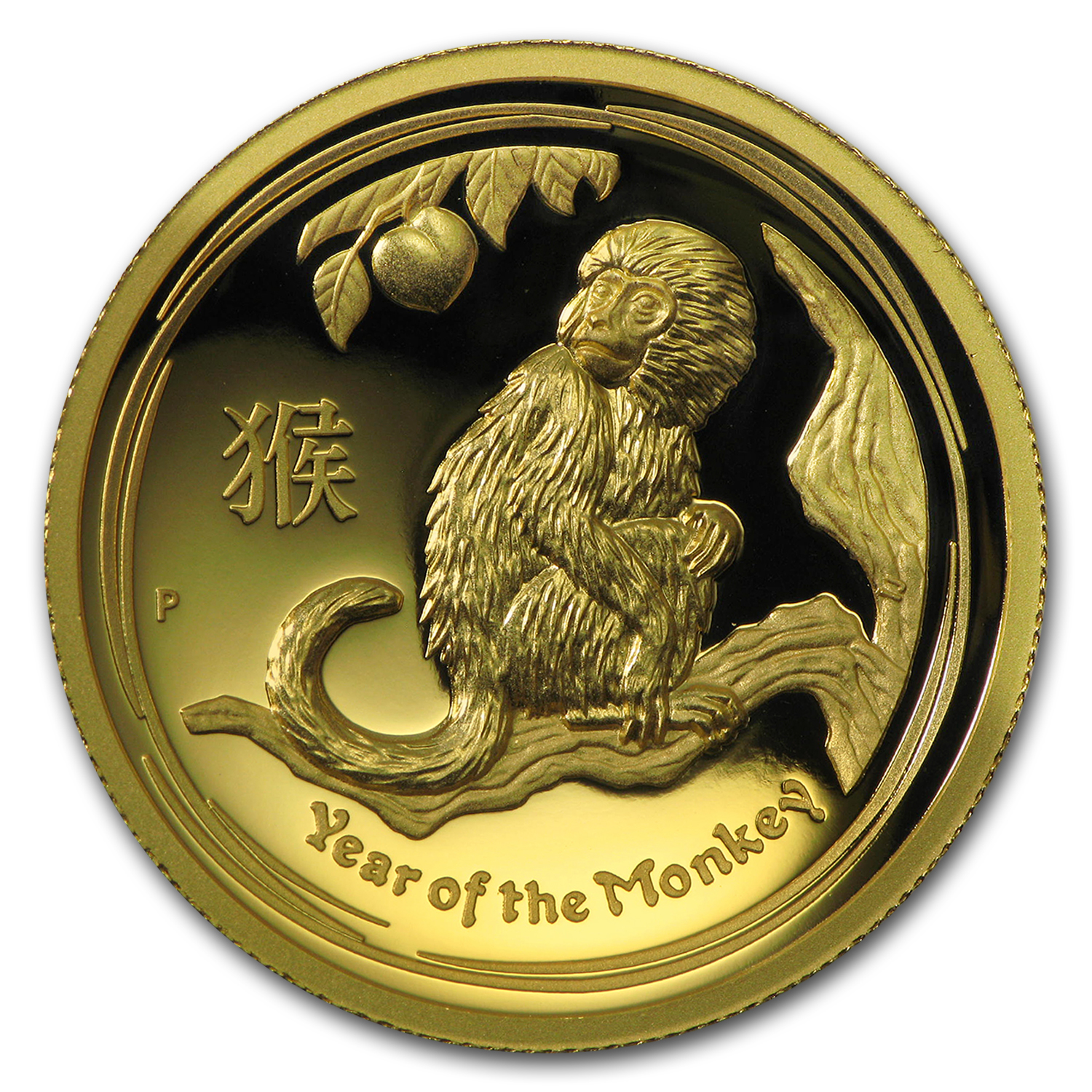 2016 Australia 1 oz Gold Lunar Monkey Proof (HR, Box & COA)