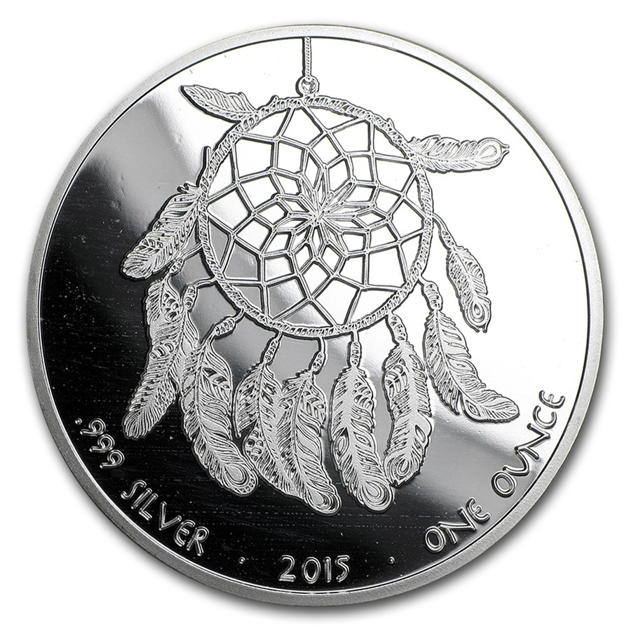 Oz Native Plants: 2015 1 Oz Silver Proof Native American Mint $1