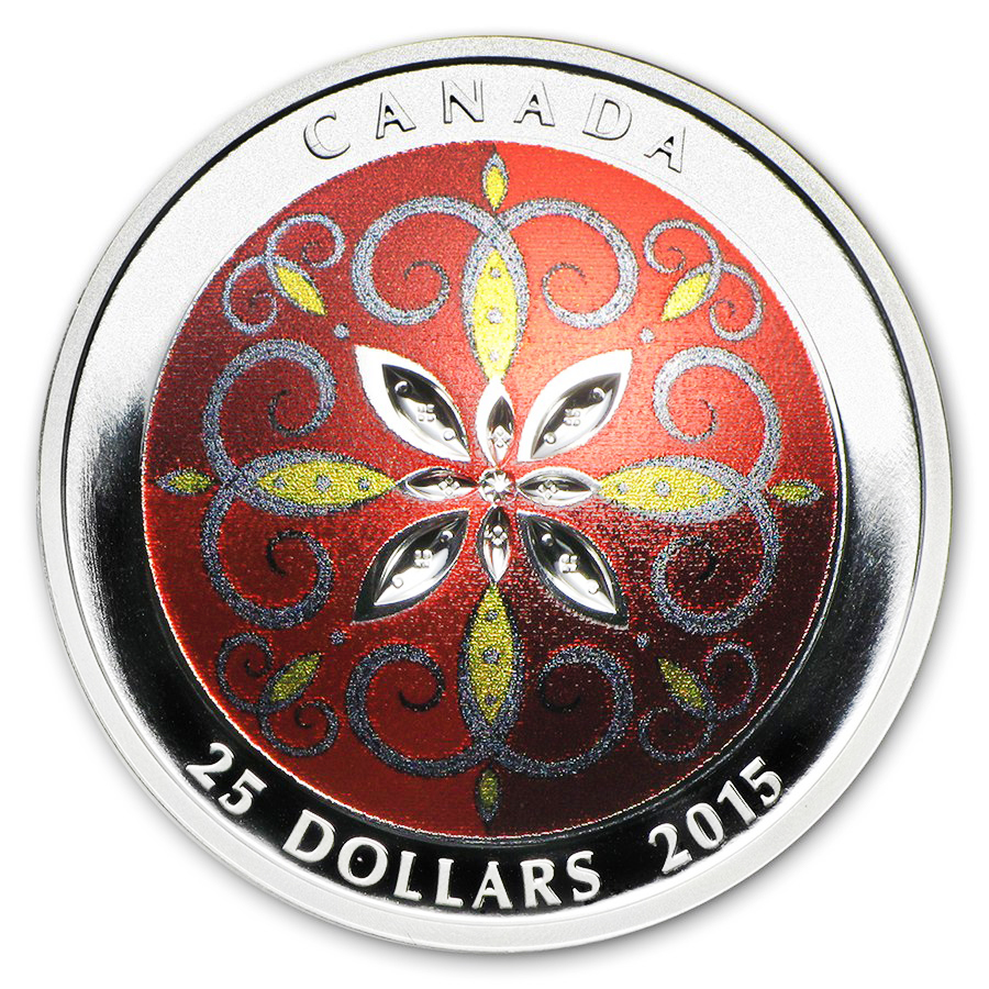 2015 Canada 1 oz Silver Christmas Ornament