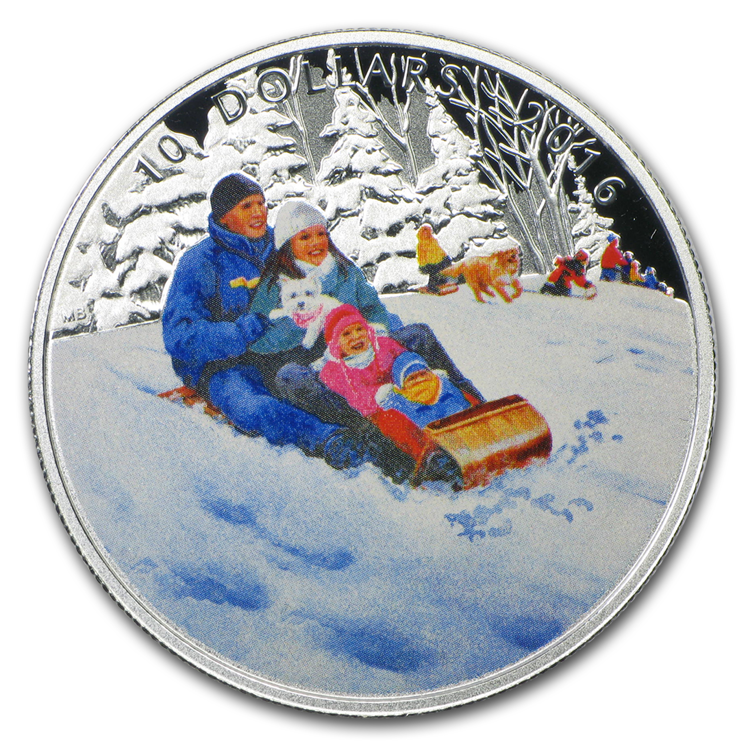 2016 Canada 1/2 oz Silver $10 Winter Fun Proof