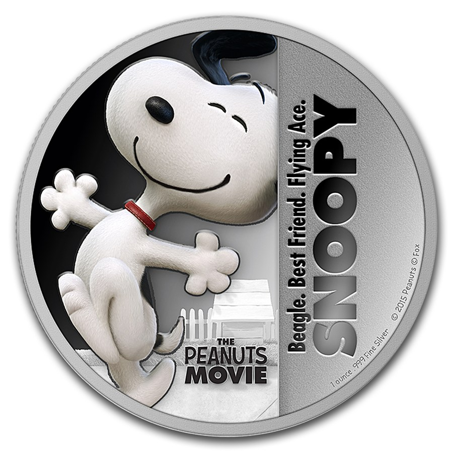 2015 Niue 1 Oz Silver Quot The Peanuts Movie Quot Snoopy