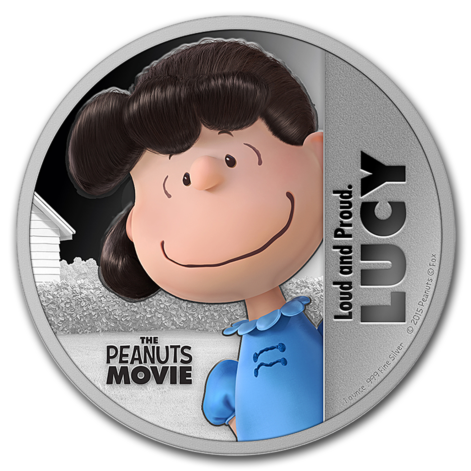 "2015 Niue 1 oz Silver ""The Peanuts Movie"" Lucy"