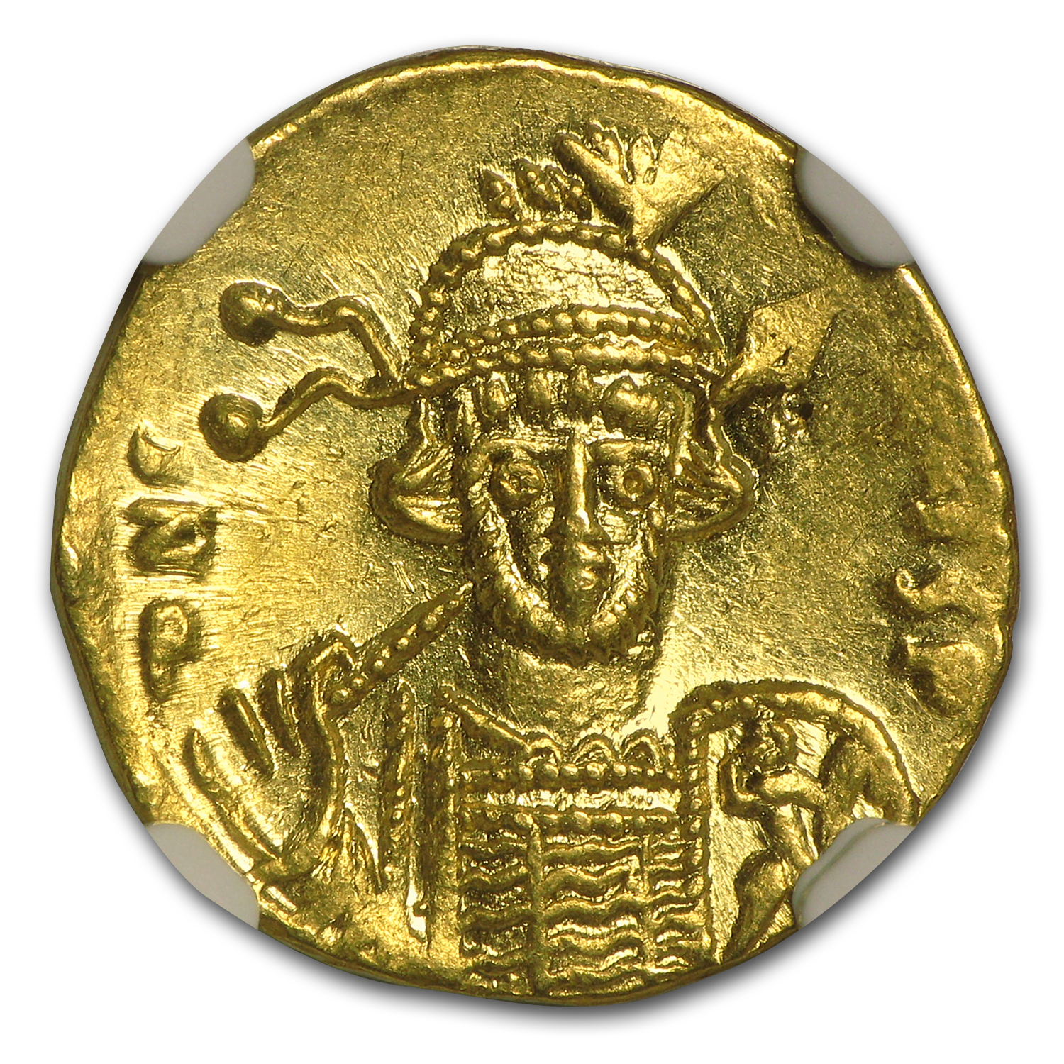 Byzantine Gold Solidus Emperor Constantine IV (668-685 AD) NGC MS