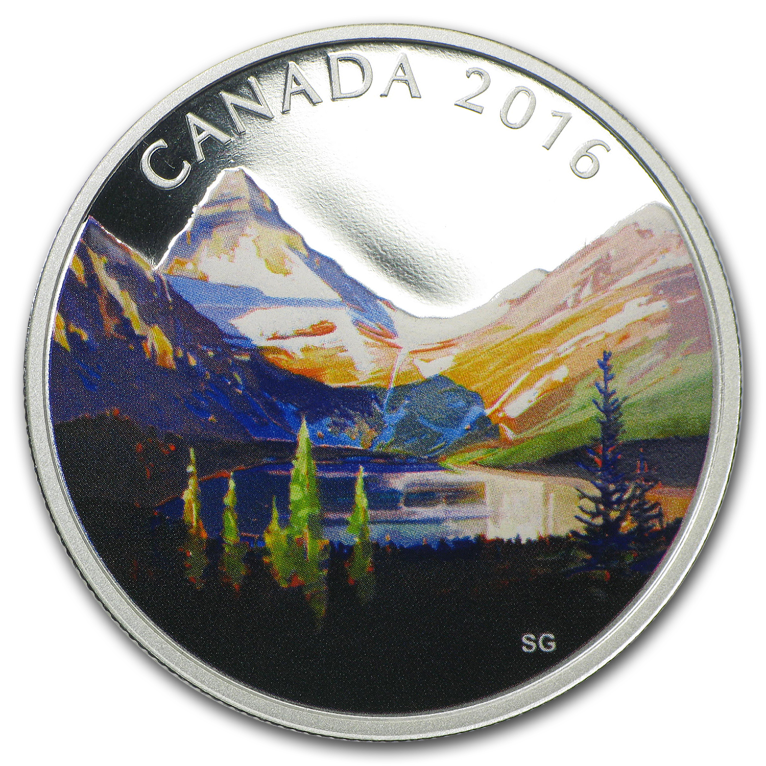 2016 Canada 1 oz Silver $20 Canadian Landscape The Lake