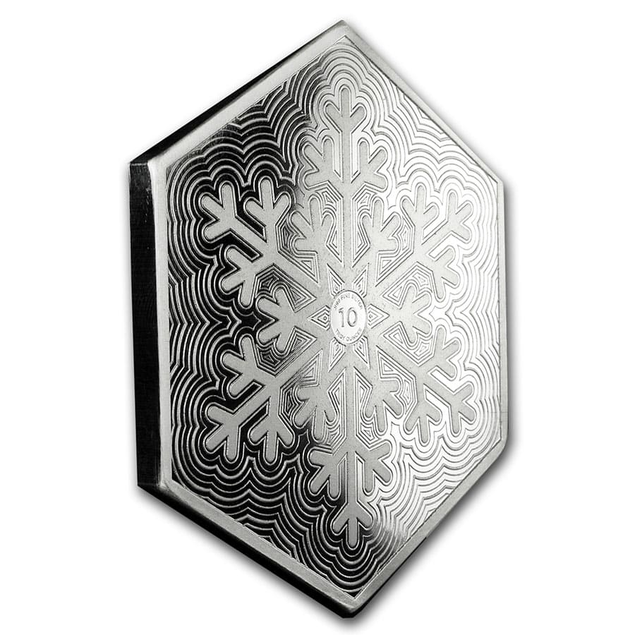 10 Oz Silver Hexagon Snowflake Gold Silver Prices