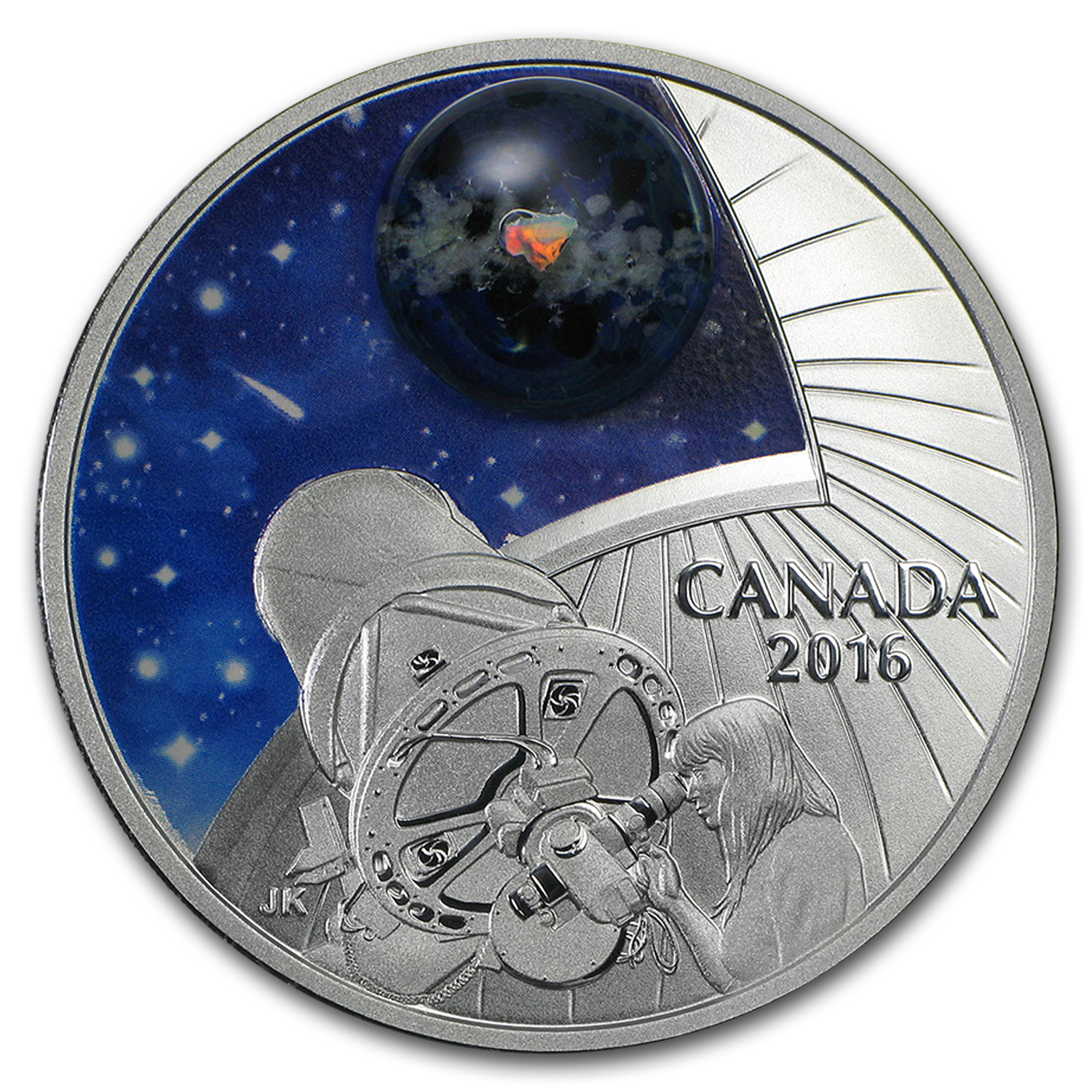 2016 Canada 1 oz Silver $20 The Universe: Glow-in-the-Dark Glass