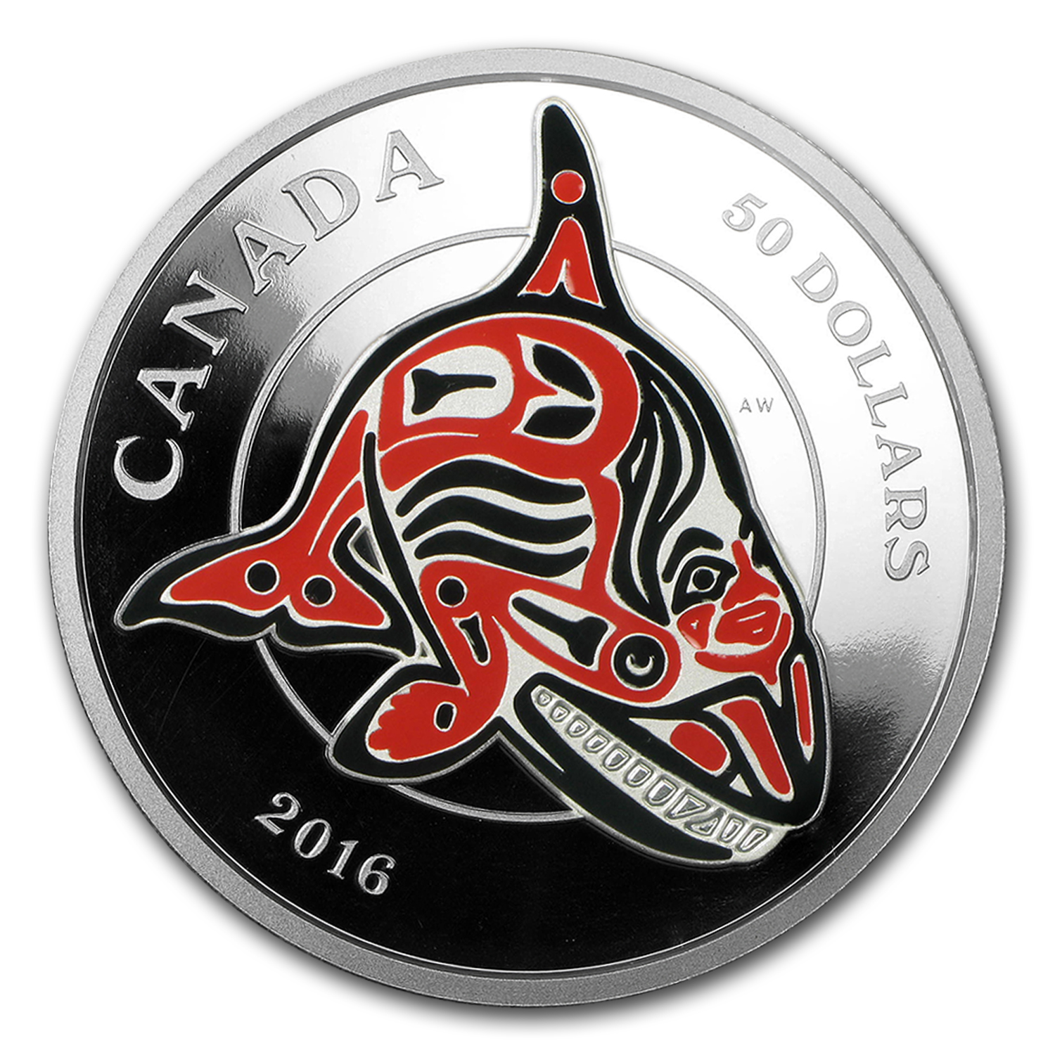 2016 Canada 5 oz Silver Mythical Realms of the Haida Series: Orca