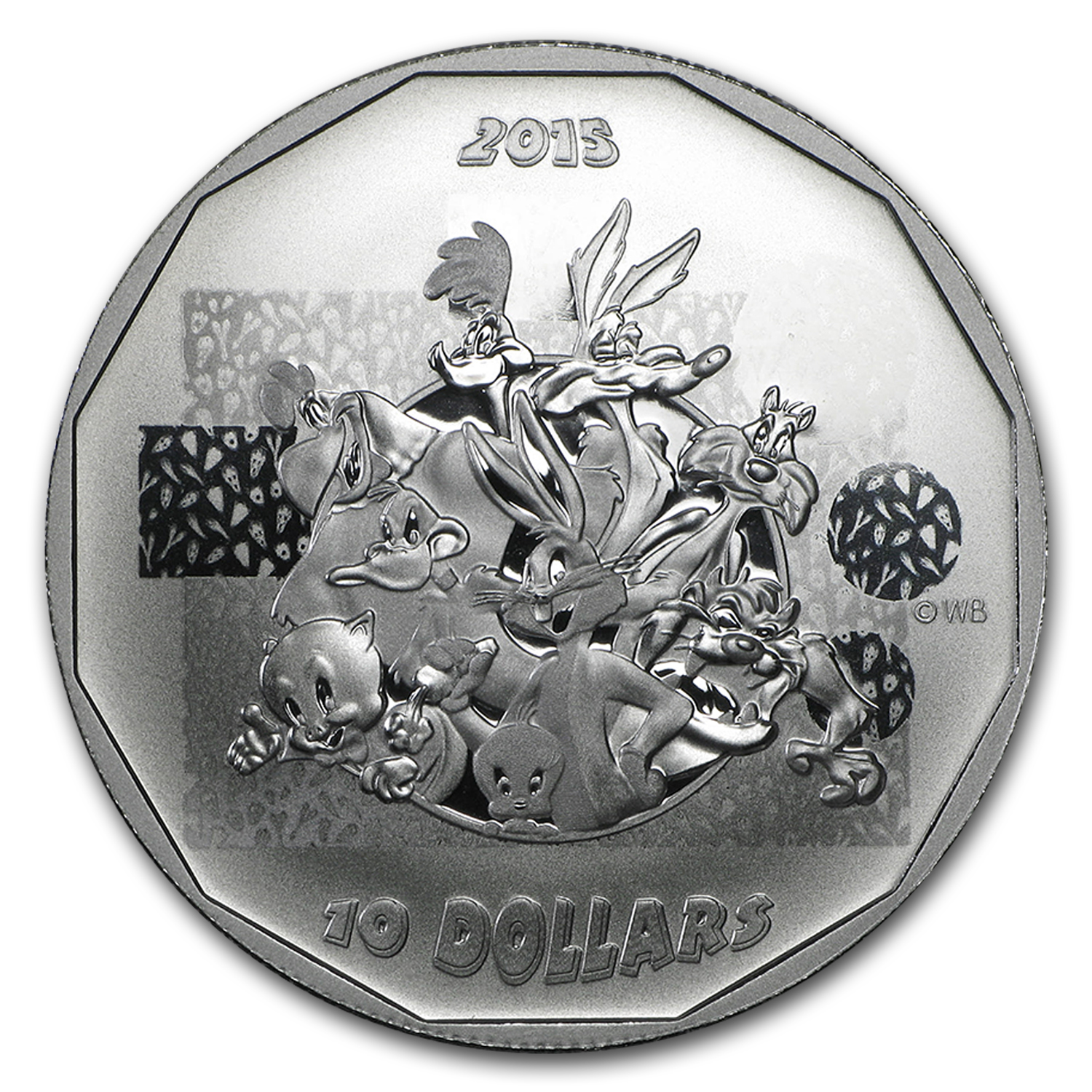 2015 Canada 1/2 oz Silver $10 Looney Tunes That's All Folks!