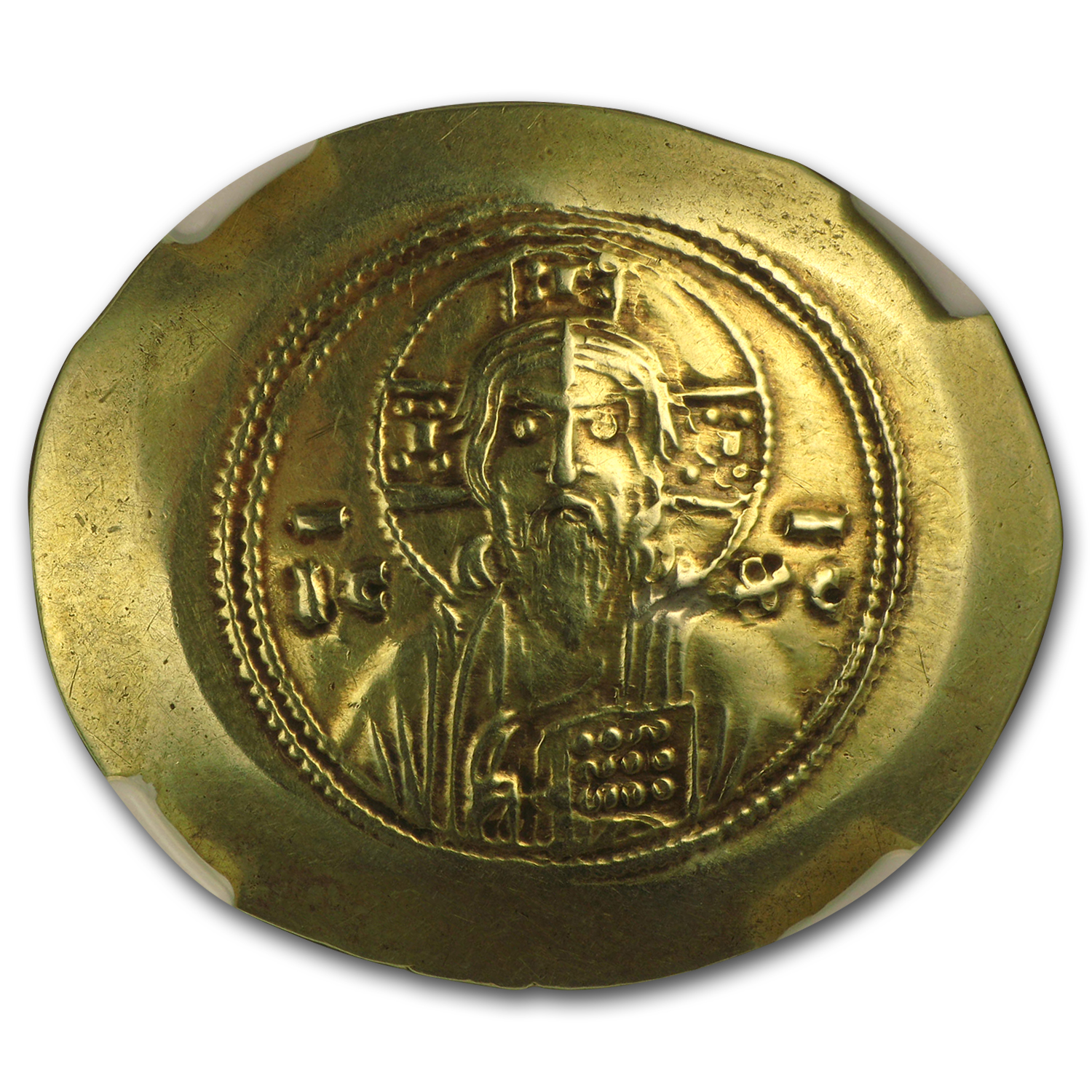 Byzantine Gold Histamenon Michael VII (1071-1078 AD) Ch XF NGC