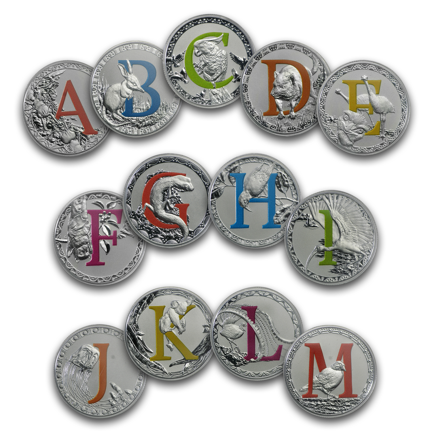 2016 Australia Silver $1 Alphabet Collection Set