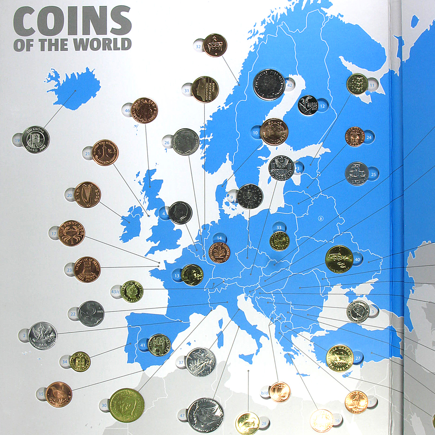 Coins of the World - Europe (48 coins)