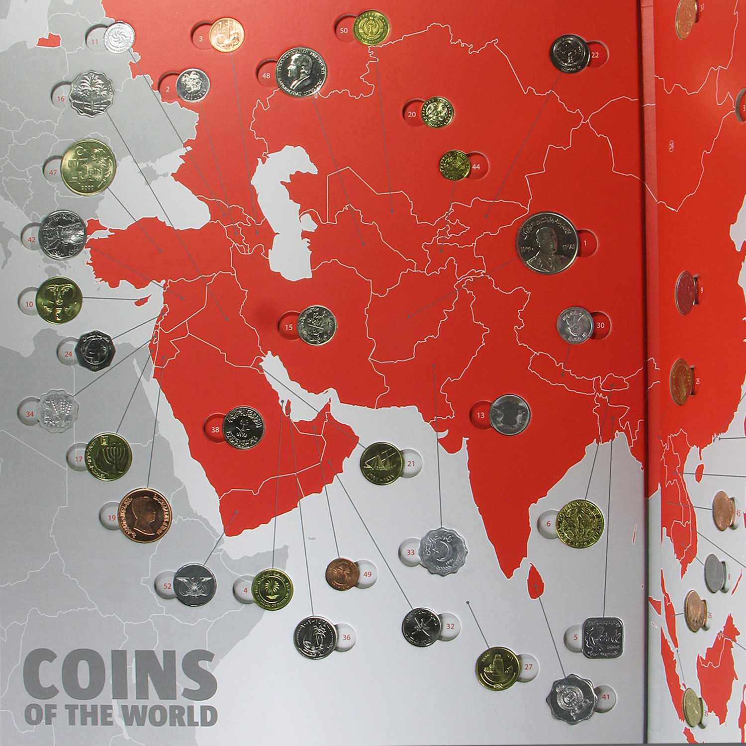 Coins of the World - Asia (47 coins)