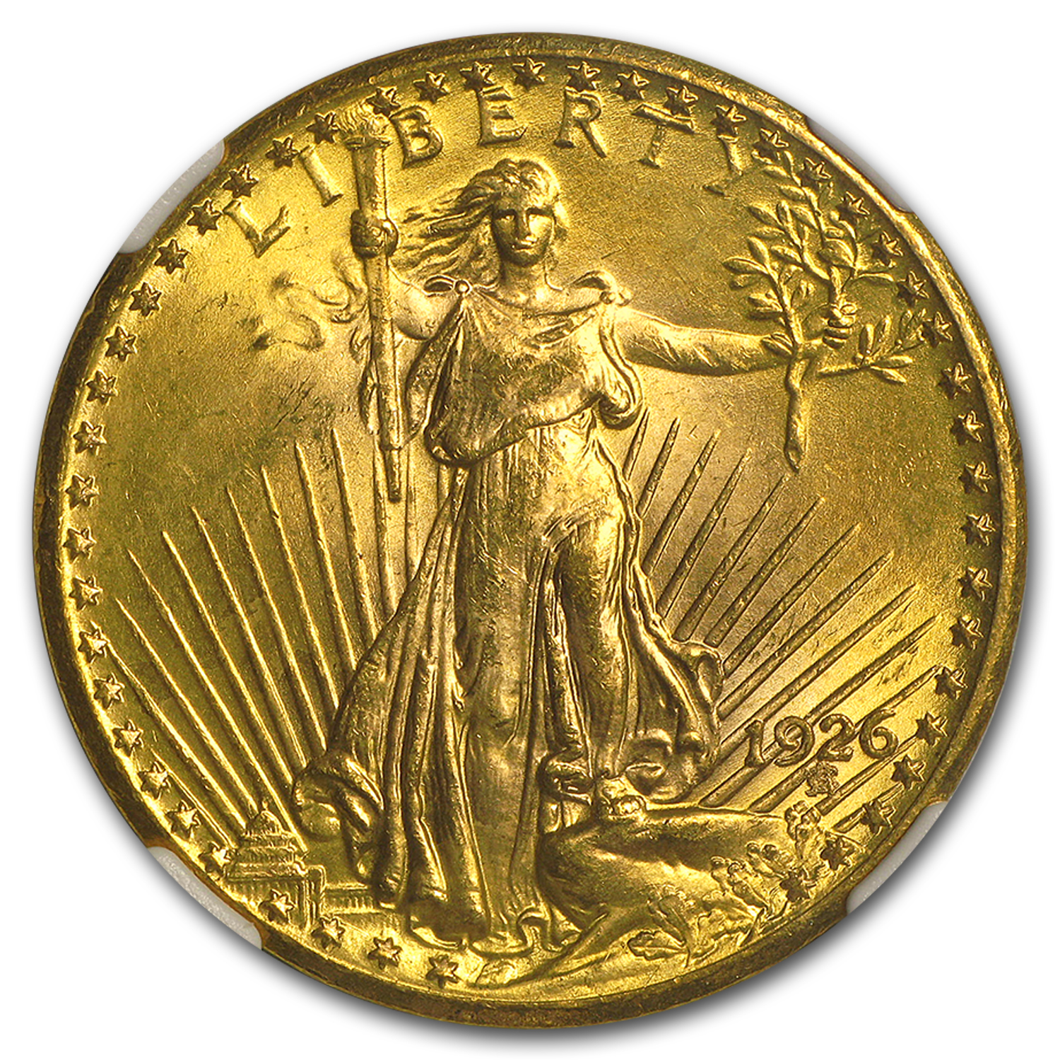 1926 $20 Saint-Gaudens Gold Double Eagle MS-64 NGC (TDO FS-101)