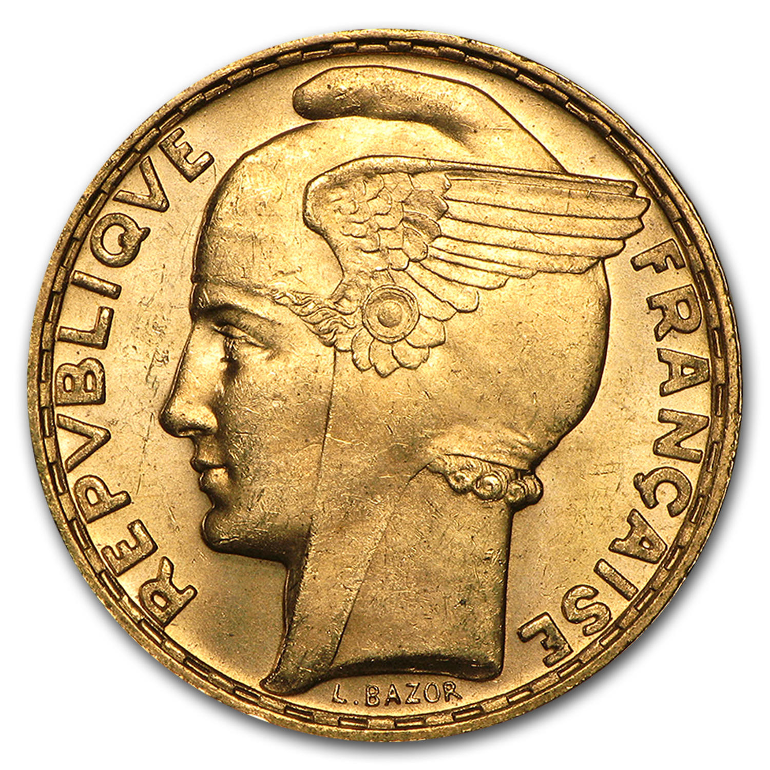 1935-1936 France Gold 100 Francs Marianne BU