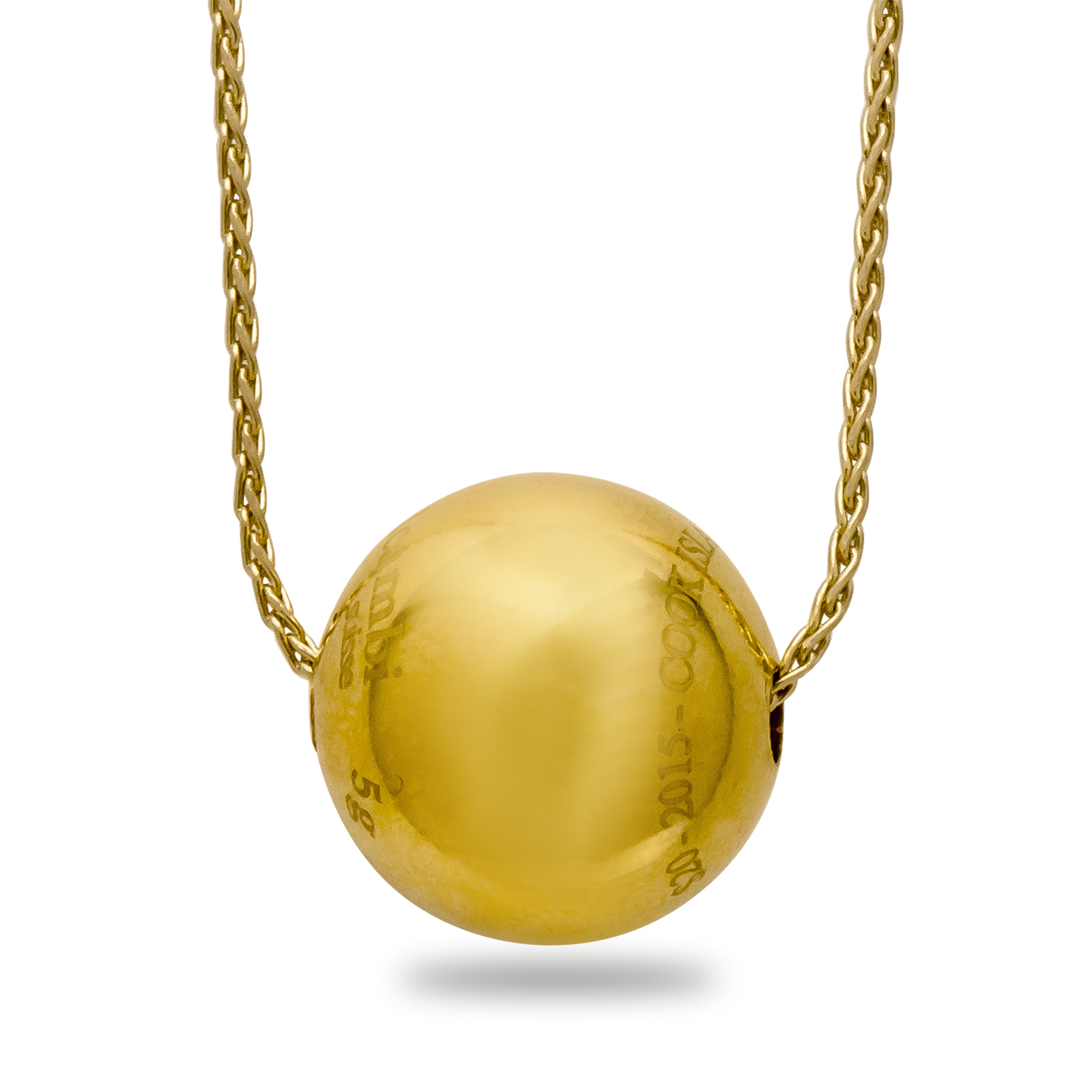 2015 5 gram Cook Islands $20 Gold Sphere Valcambi (w/Chain)