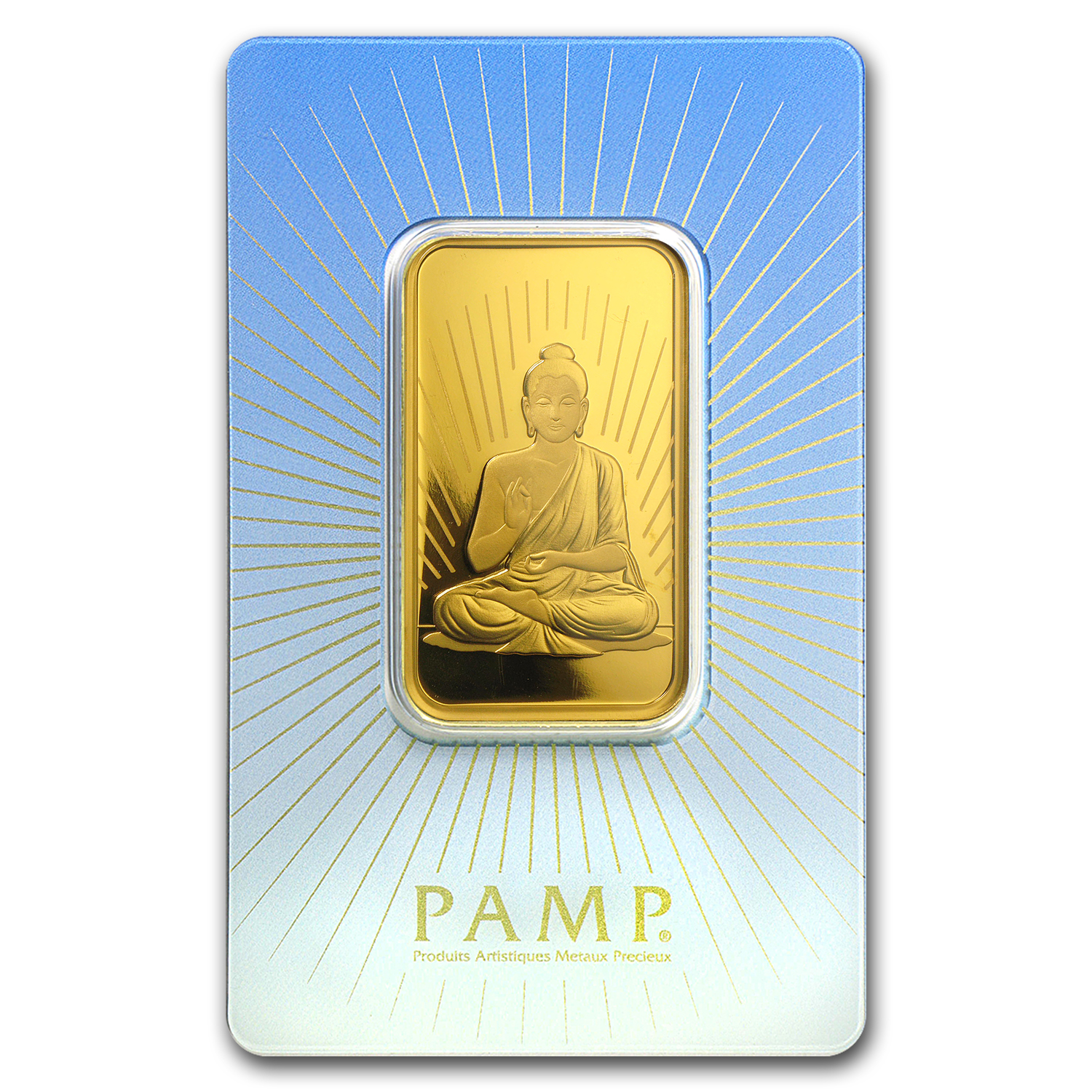 1 oz Gold Bar - PAMP Suisse Religious Series (Buddha)