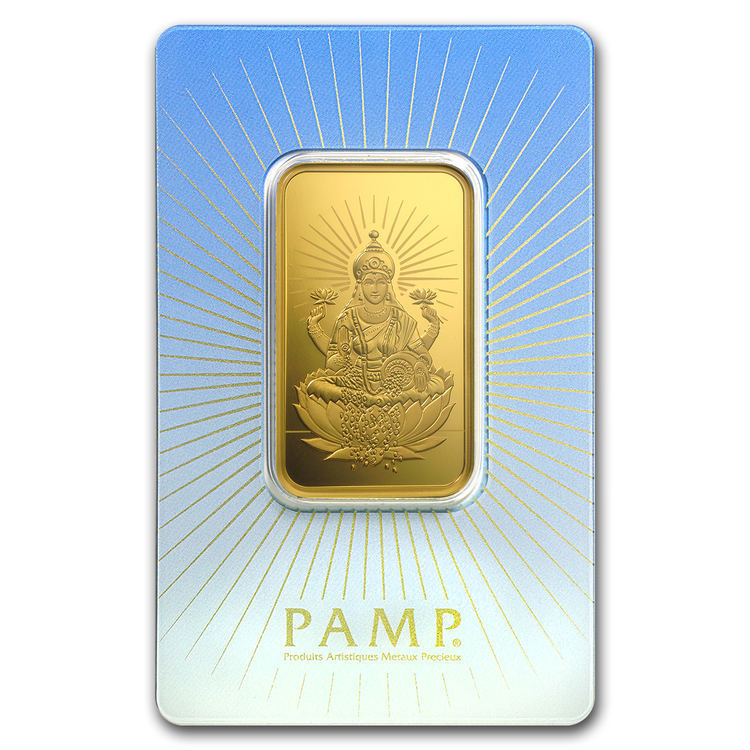 1 oz Gold Bar - PAMP Suisse Religious Series (Lakshmi)
