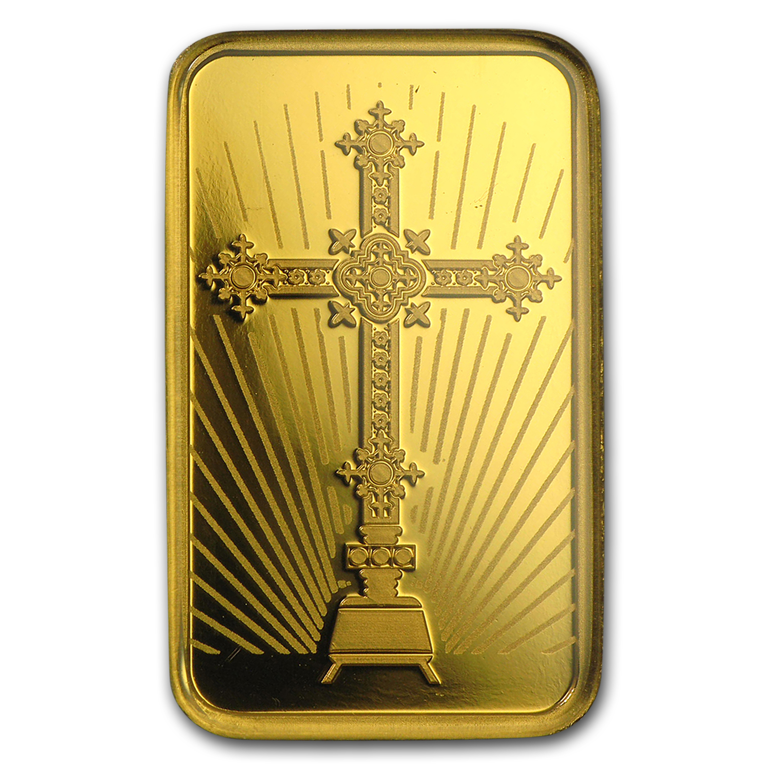 10 g Gold Bar - PAMP Suisse Religious Series (Romanesque Cross)