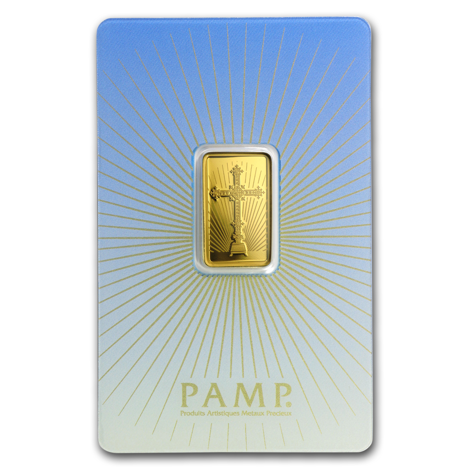 5 g Gold Bar - PAMP Suisse Religious Series (Romanesque Cross)