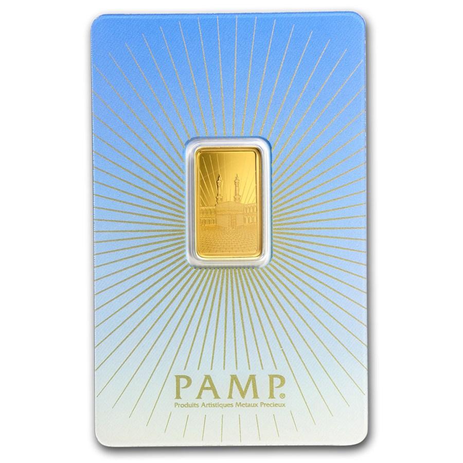 5 Gram Gold Bar Pamp Suisse Religious Series Ka Bah