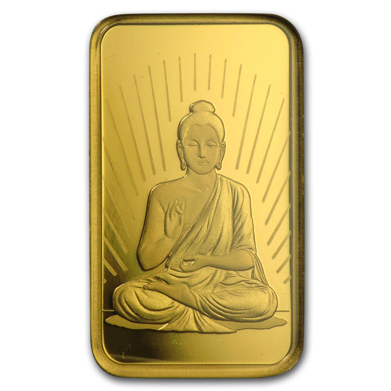 10 Gram Gold Bar Pamp Suisse Religious Series Buddha
