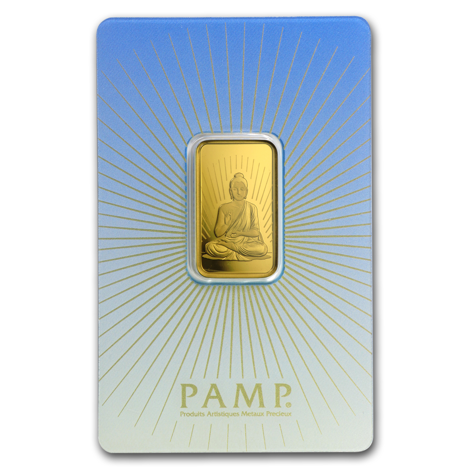 10 Gram Gold Bar Pamp Suisse Religious Series Buddha