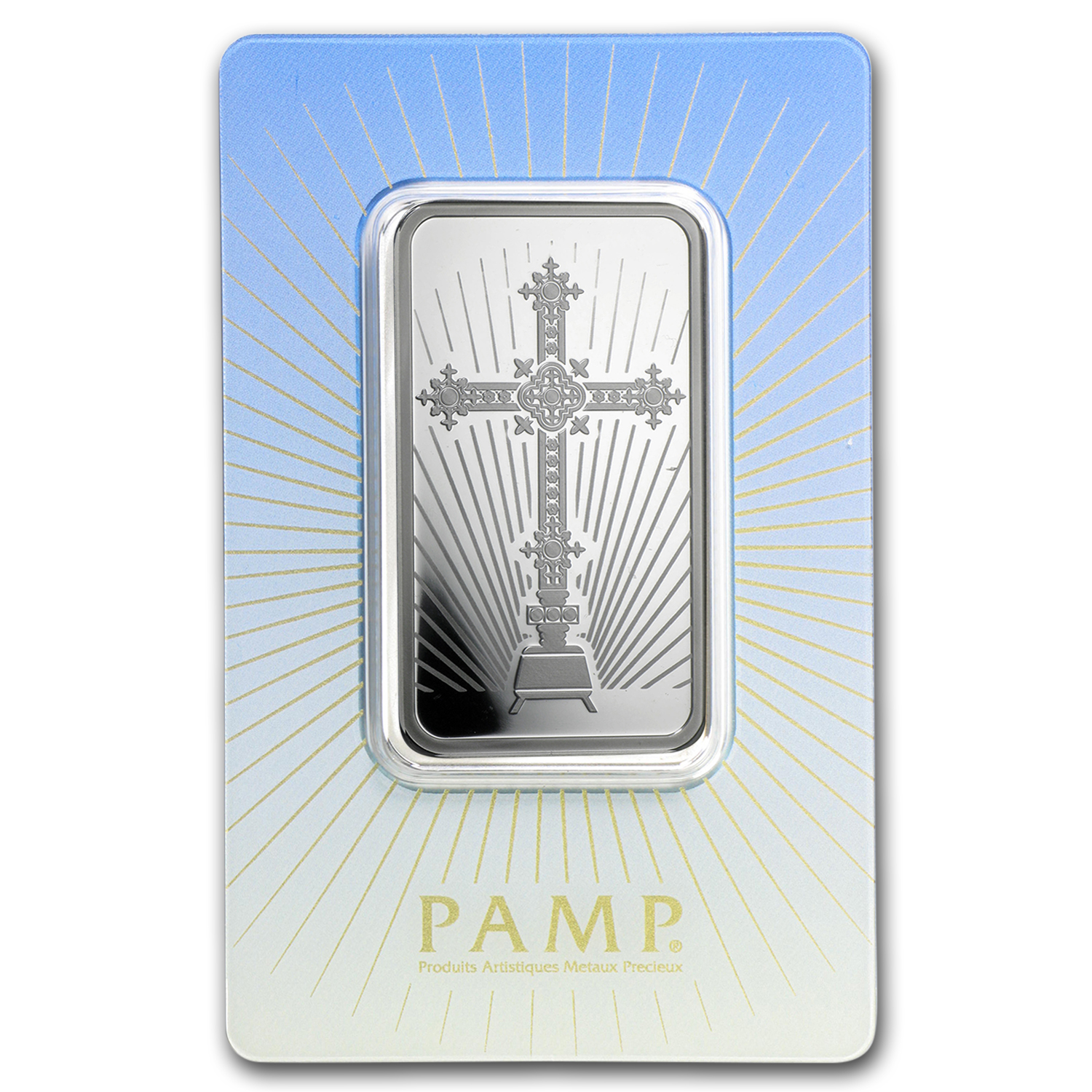 1 oz Silver Bar - PAMP Suisse Religious Series (Romanesque Cross)