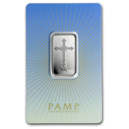 10 G Silver Bar Pamp Suisse Religious Series Romanesque