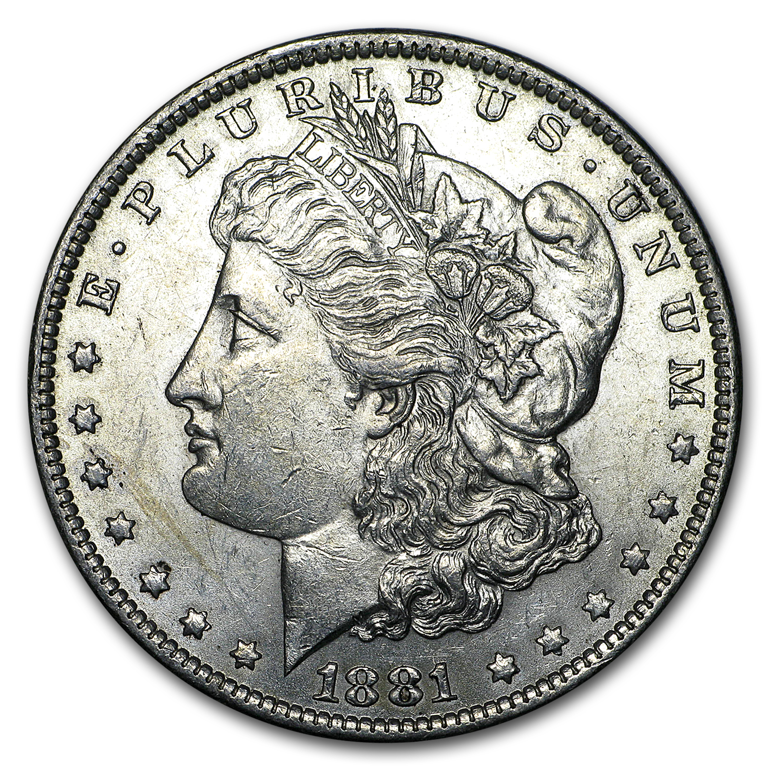 1881-O Morgan Silver Dollar AU