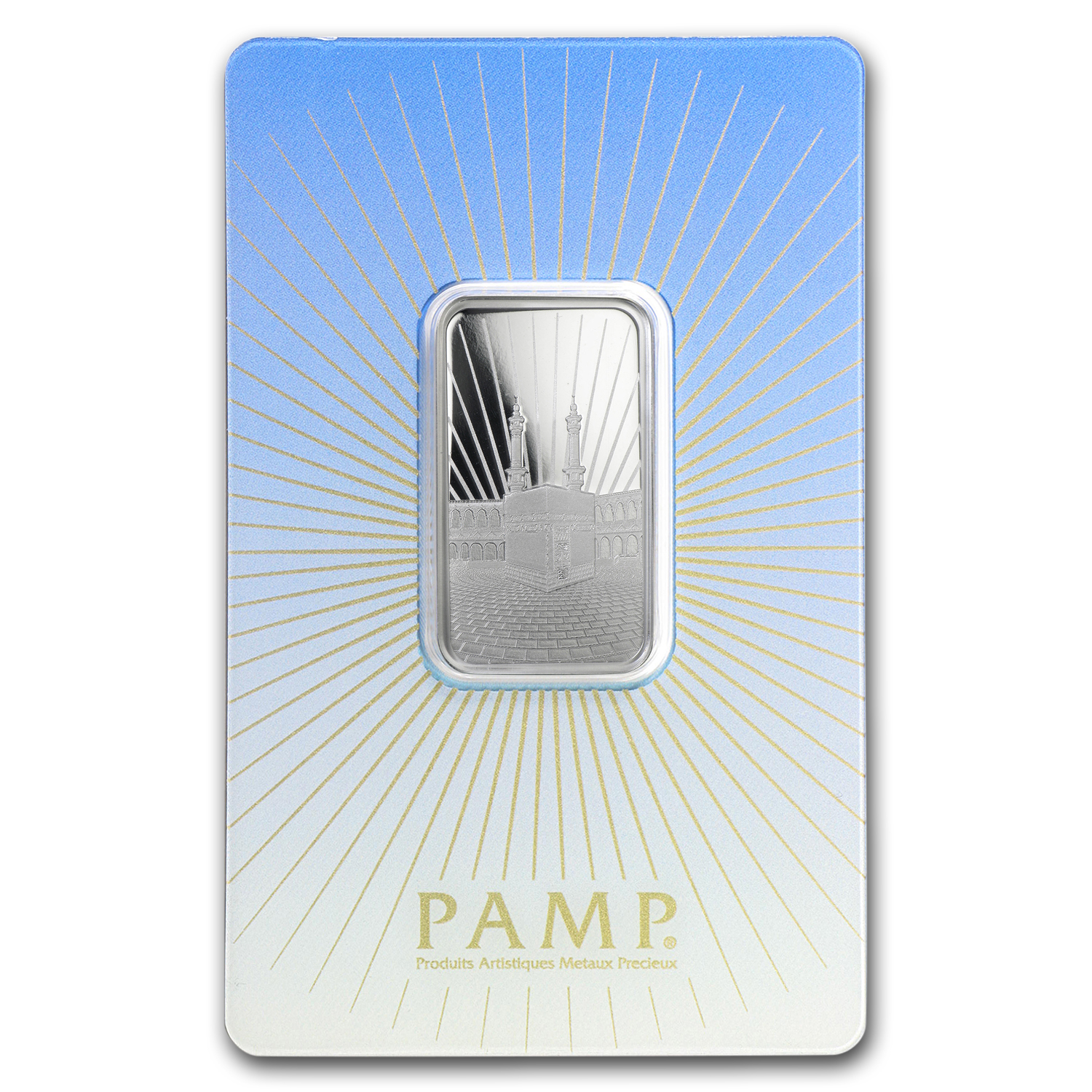 10 g Silver Bar - PAMP Suisse Religious Series (Ka' Bah, Mecca)