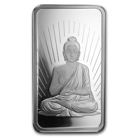 1 Oz Silver Bar Pamp Suisse Religious Series Buddha