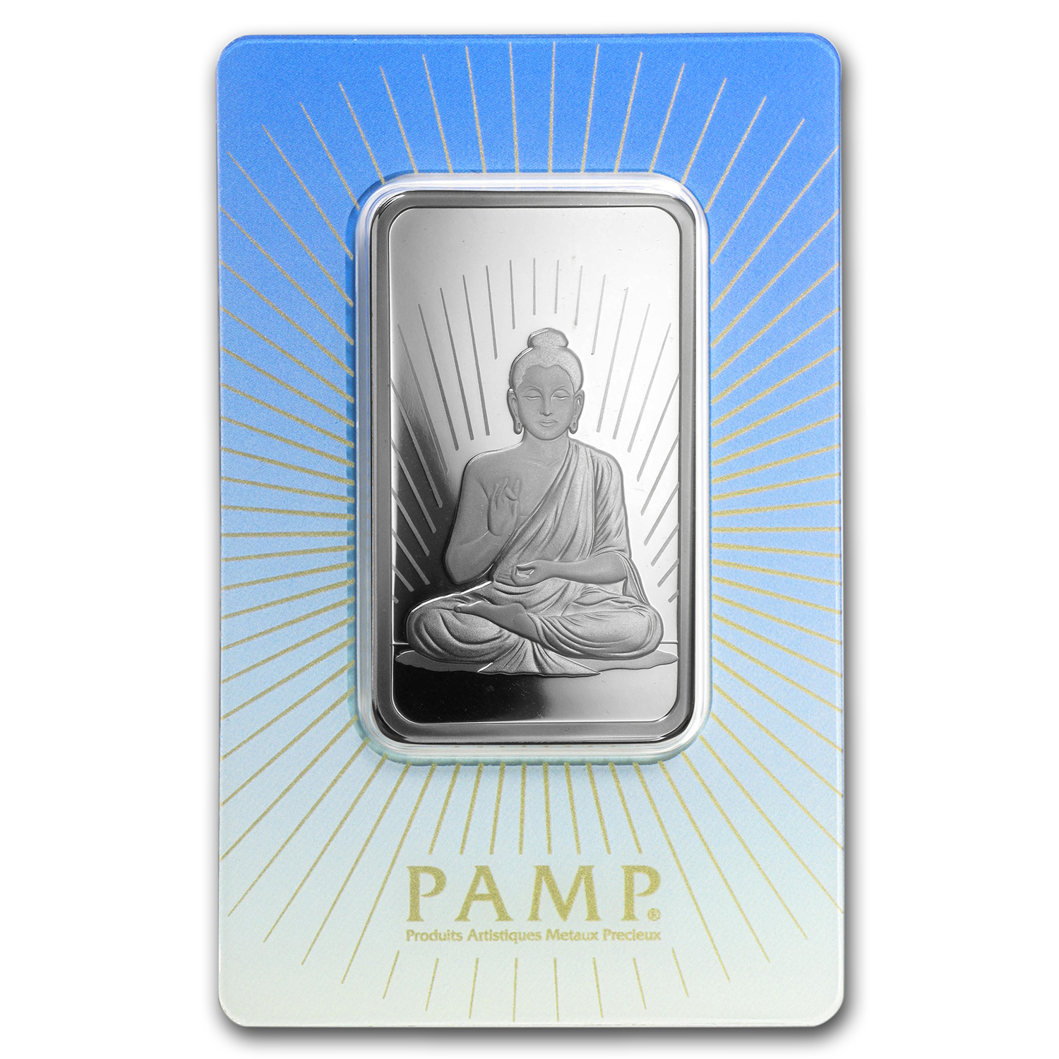 1 oz Silver Bar - PAMP Suisse Religious Series (Buddha, In Assay)
