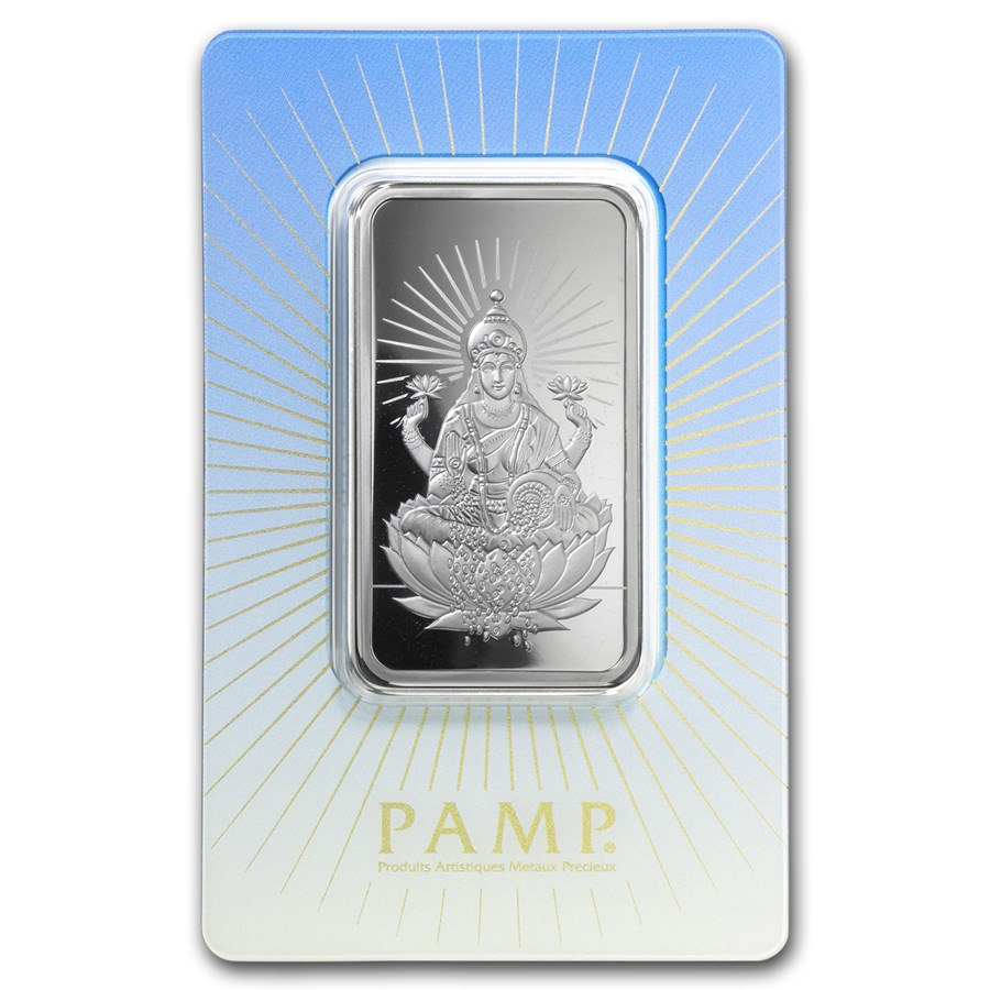 1 Oz Silver Bar Pamp Suisse Religious Series Lakshmi