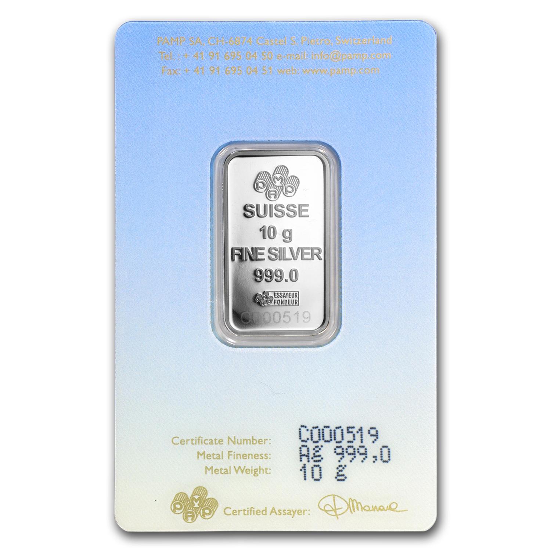 10 Gram Silver Bar Pamp Suisse Religious Series Lakshmi