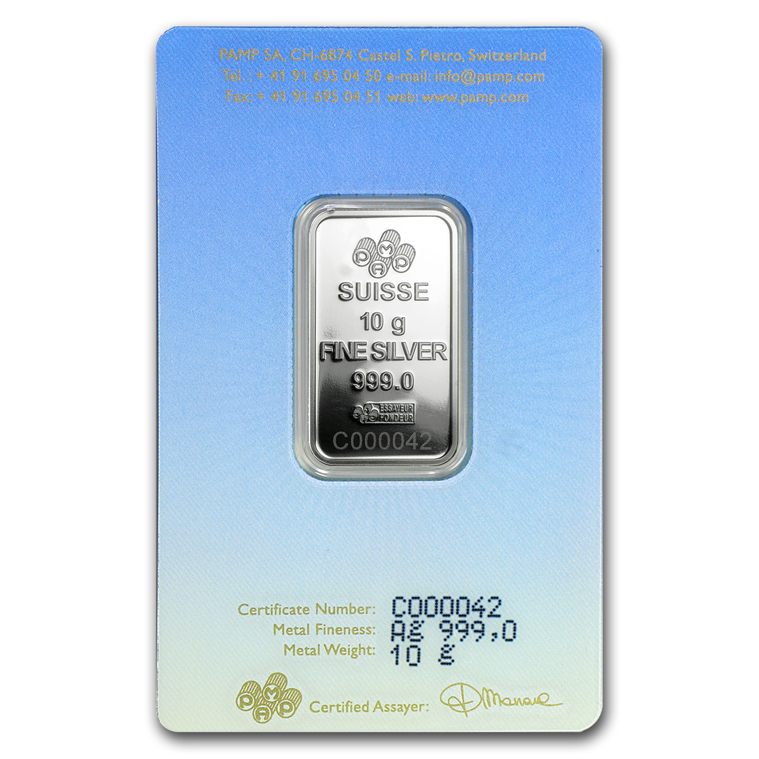 10 g Silver Bar - PAMP Suisse Religious Series (Am Yisrael Chai!)