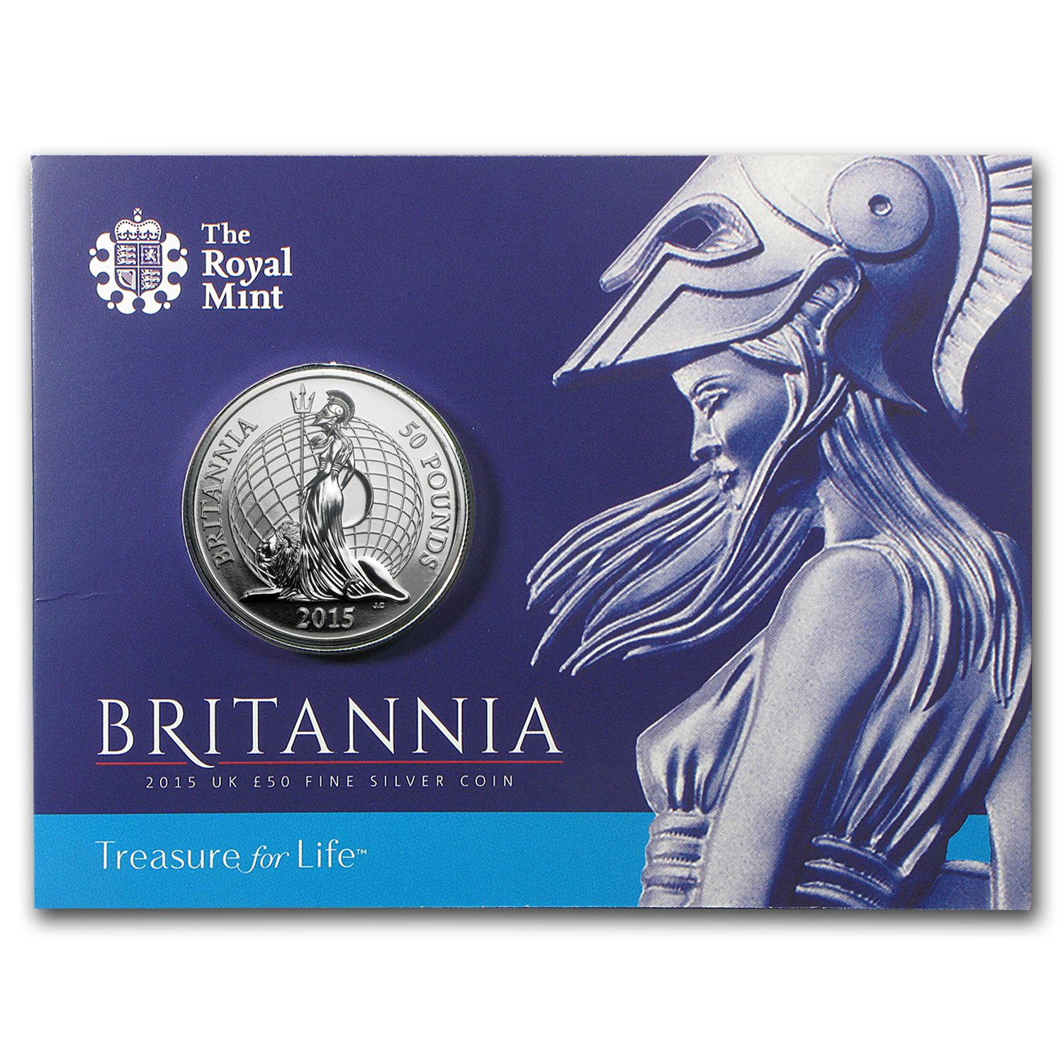 2015 Great Britain Silver £50 for £50 Britannia BU