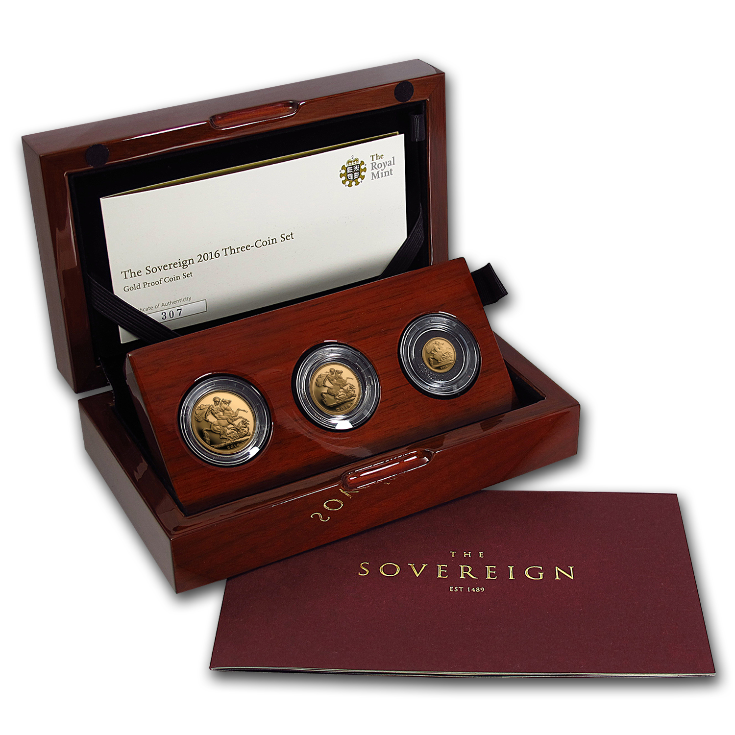 2016 Great Britain 3-Coin Gold Sovereign Proof Set