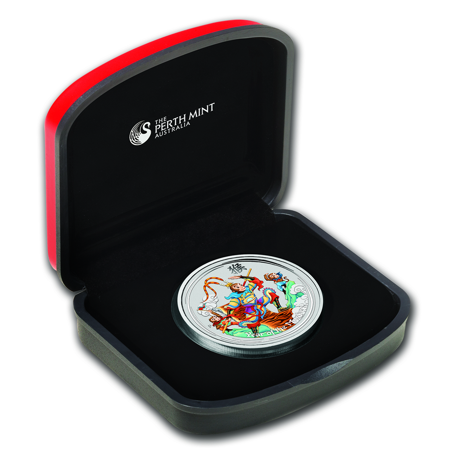 2016 Australia 1 oz Silver Lunar Monkey King Proof (Colorized)