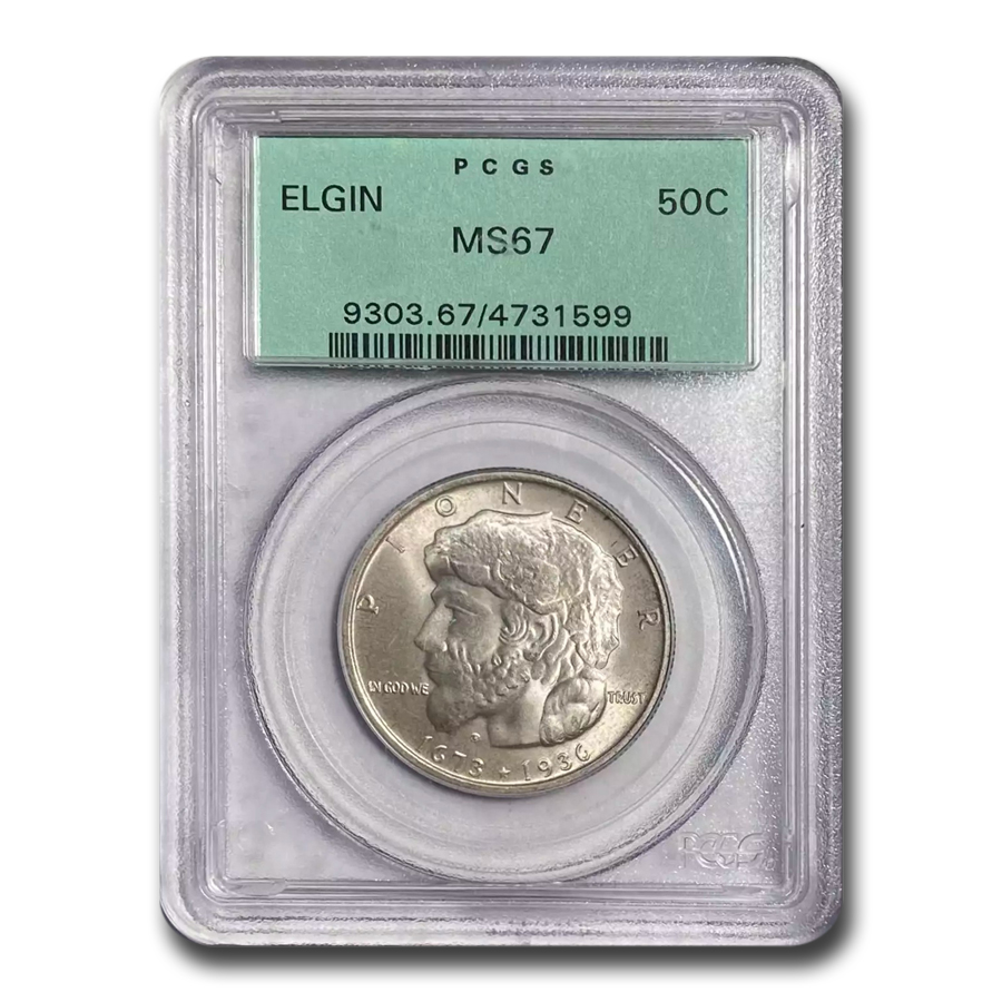 1936 Elgin Half MS-67 PCGS