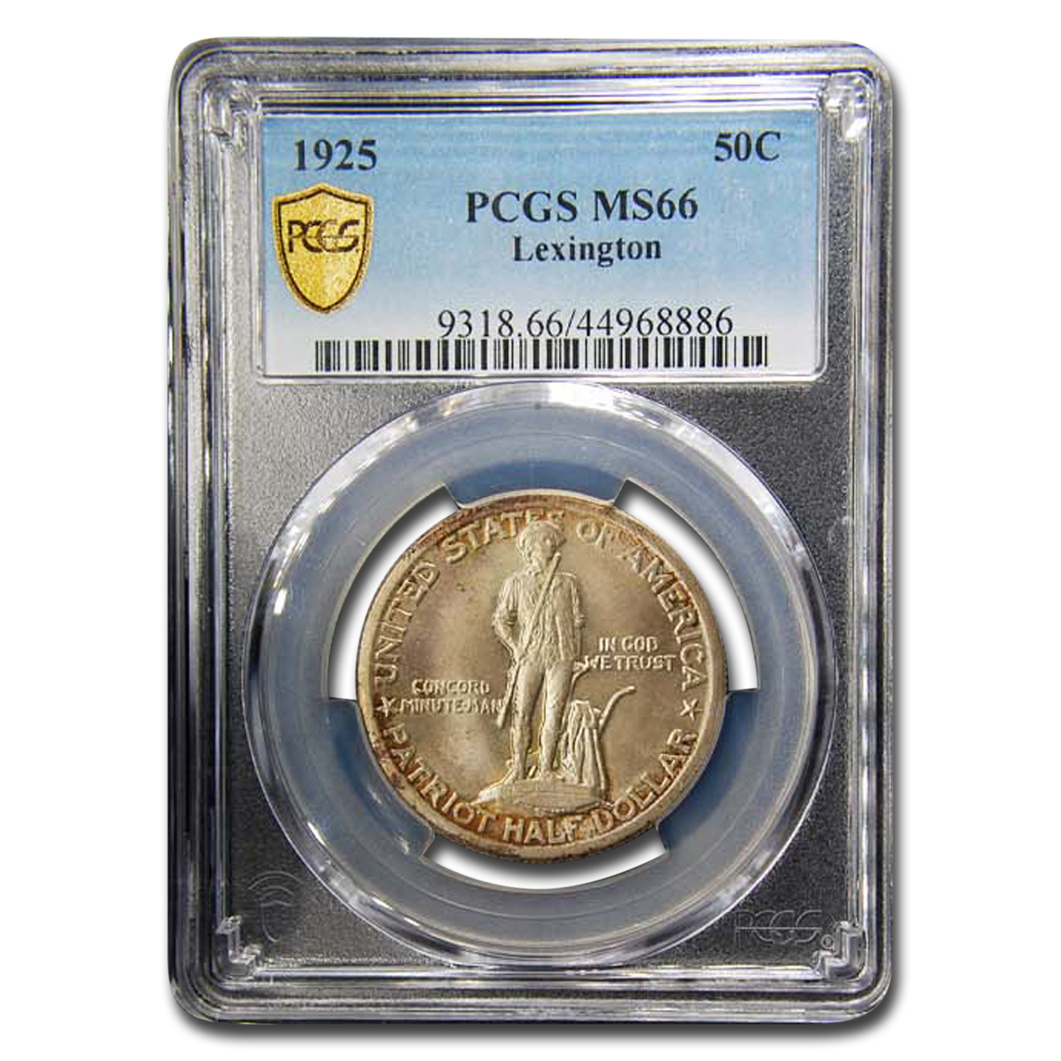 1925 Lexington Concord Sesquicentennial MS-66 PCGS
