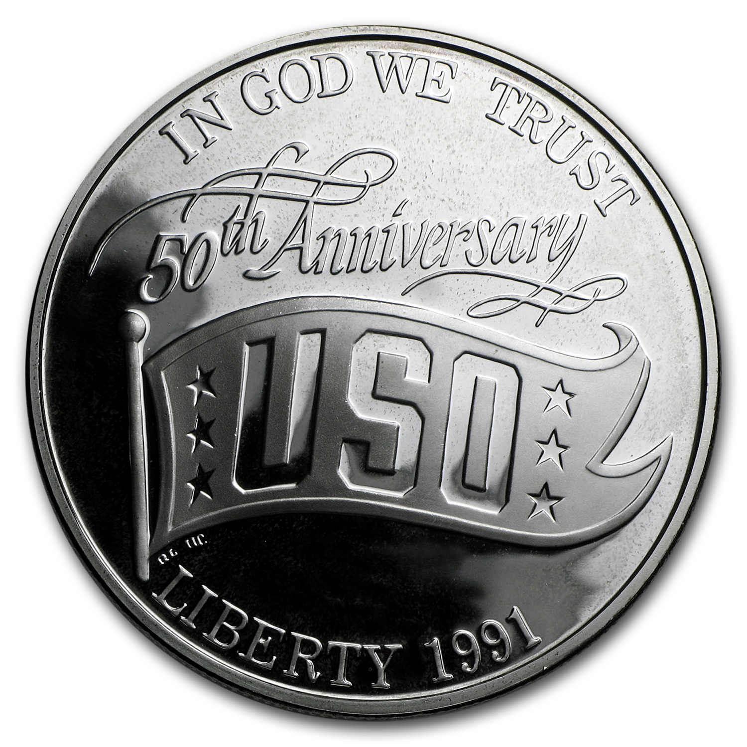 1991-S USO $1 Silver Commem Proof (w/Box & COA)