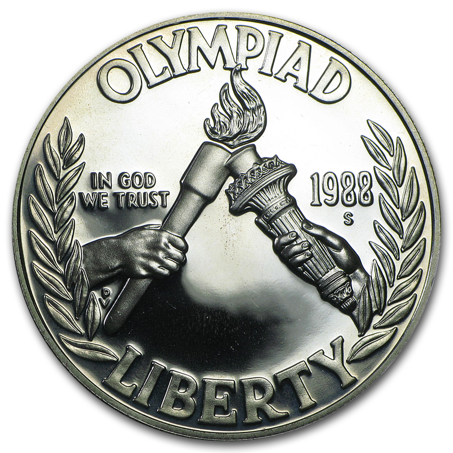 1988-S Olympic $1 Silver Commem Proof (Capsule Only)