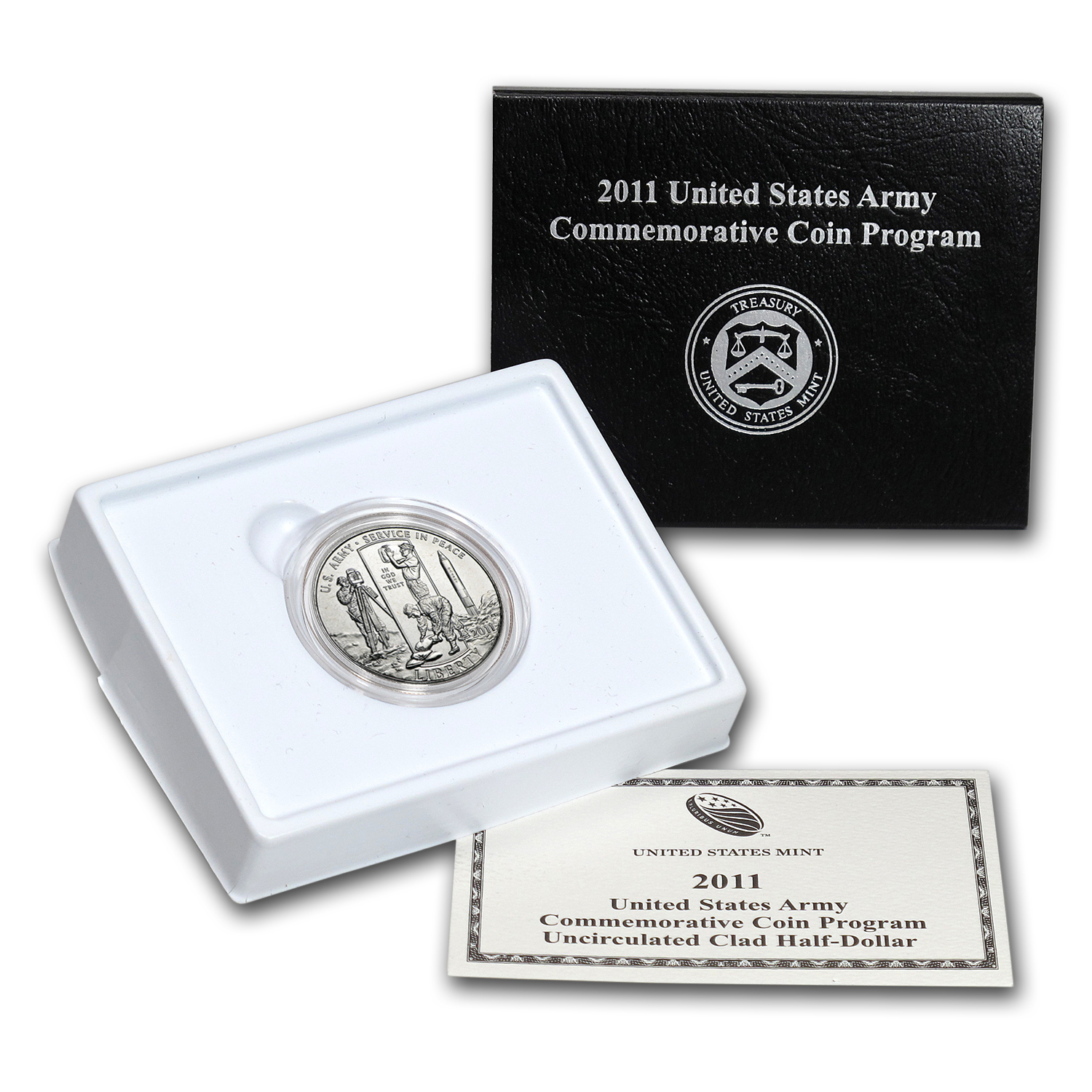 2011-D Army 1/2 Dollar Clad Commemorative BU (Box & COA)