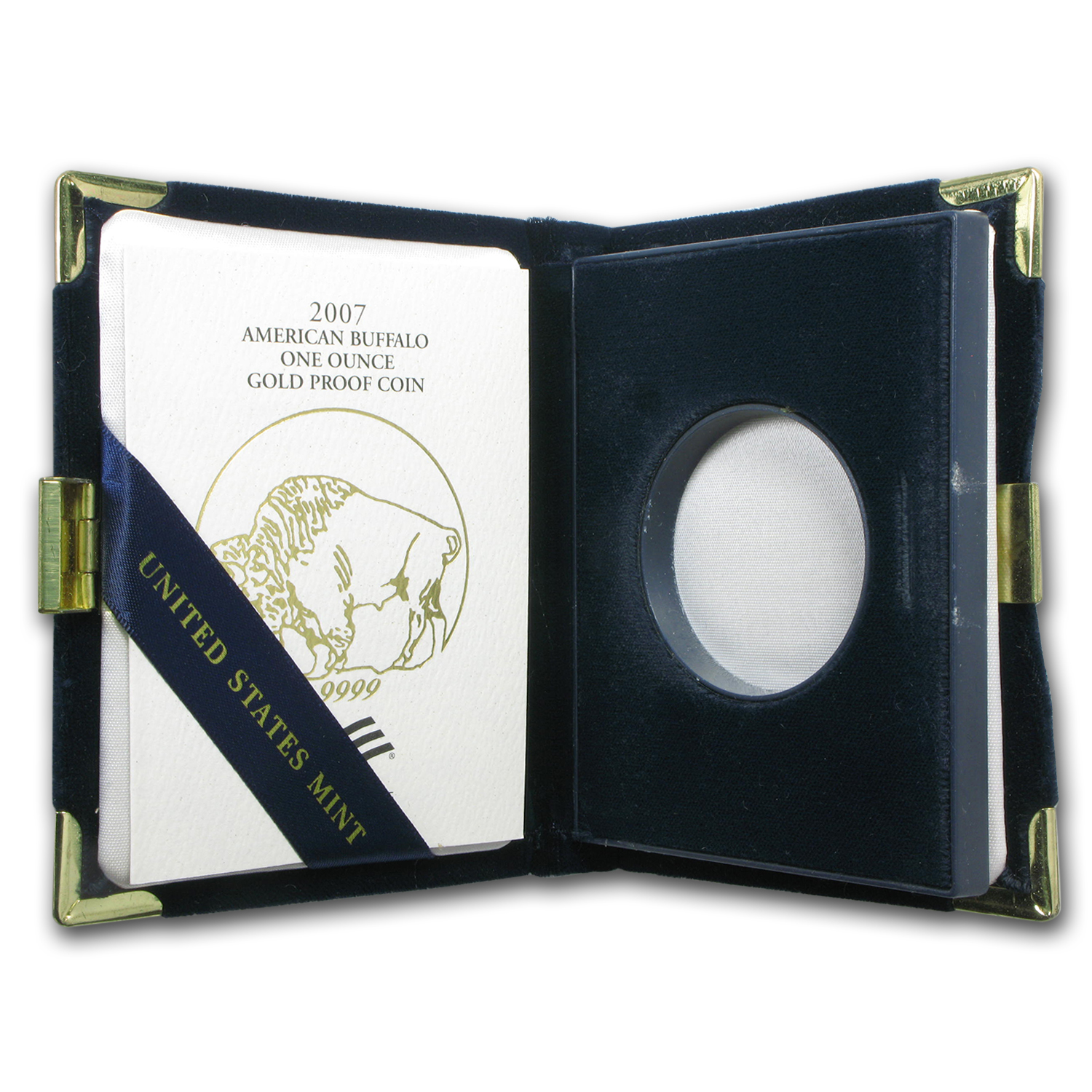 OEM Box & COA - 2007-W Proof 1 oz Gold Buffalo