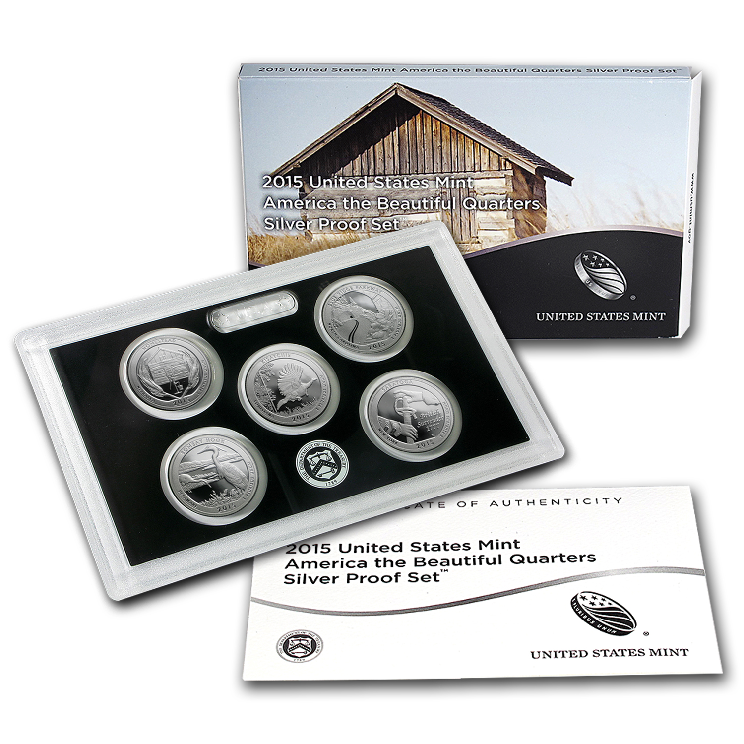 2015 America the Beautiful Quarters Silver Proof Set