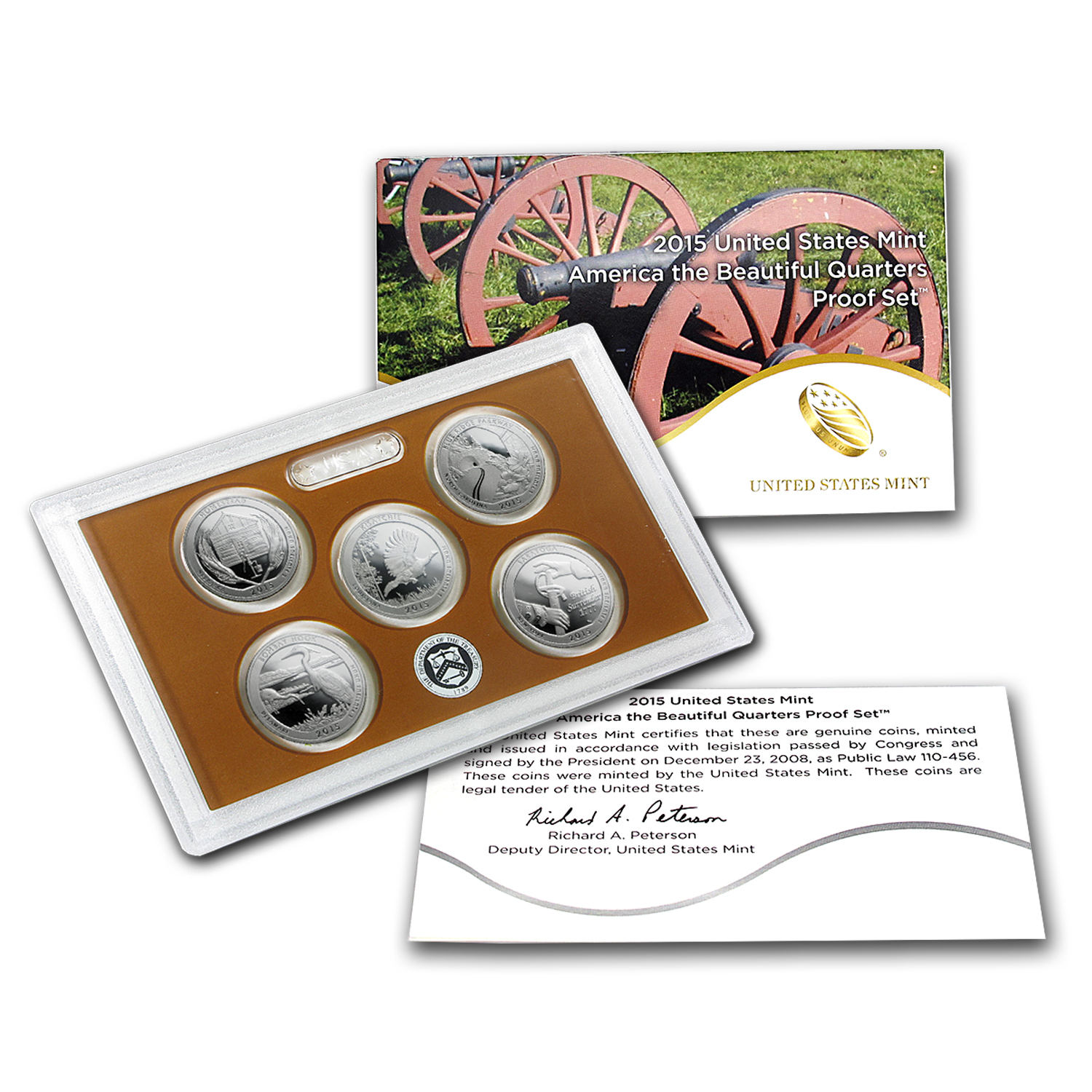 2015 America the Beautiful Quarters Proof Set