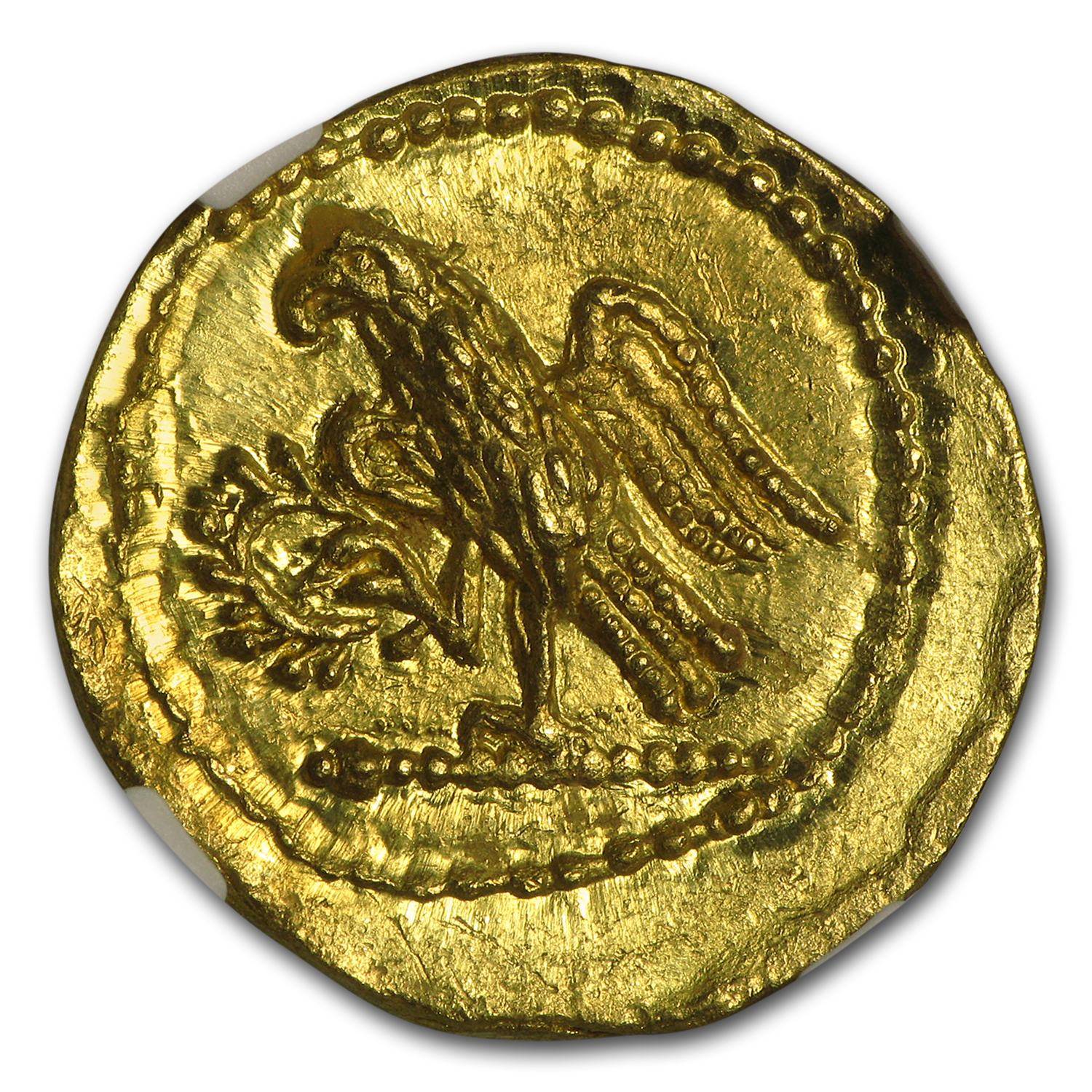 Thracian/Scythian Gold Stater w/Monogram (1st Century BC) MS NGC