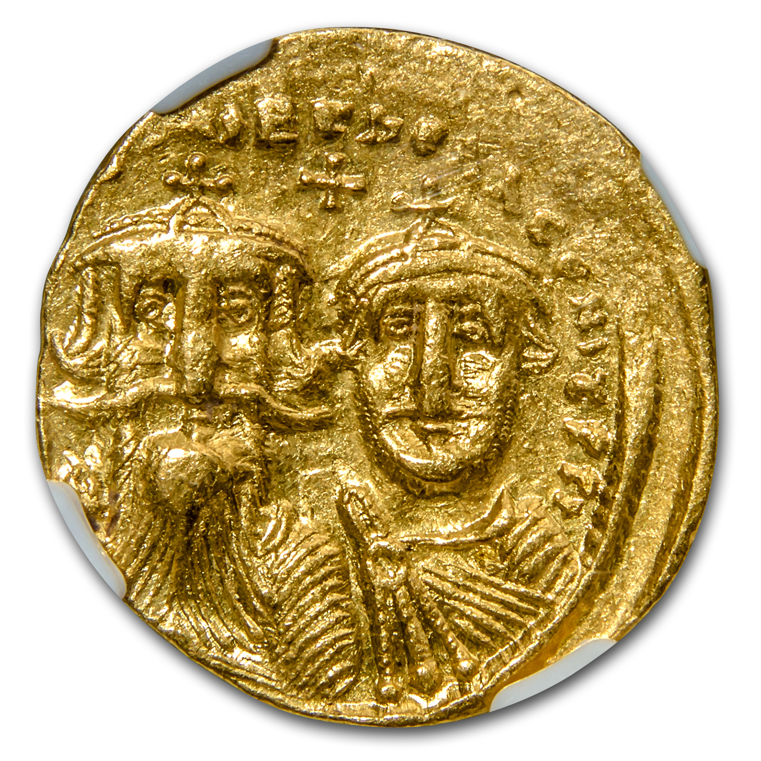 Byzantine Gold Solidus Emperor Heraclius XF NGC (613-641 AD)