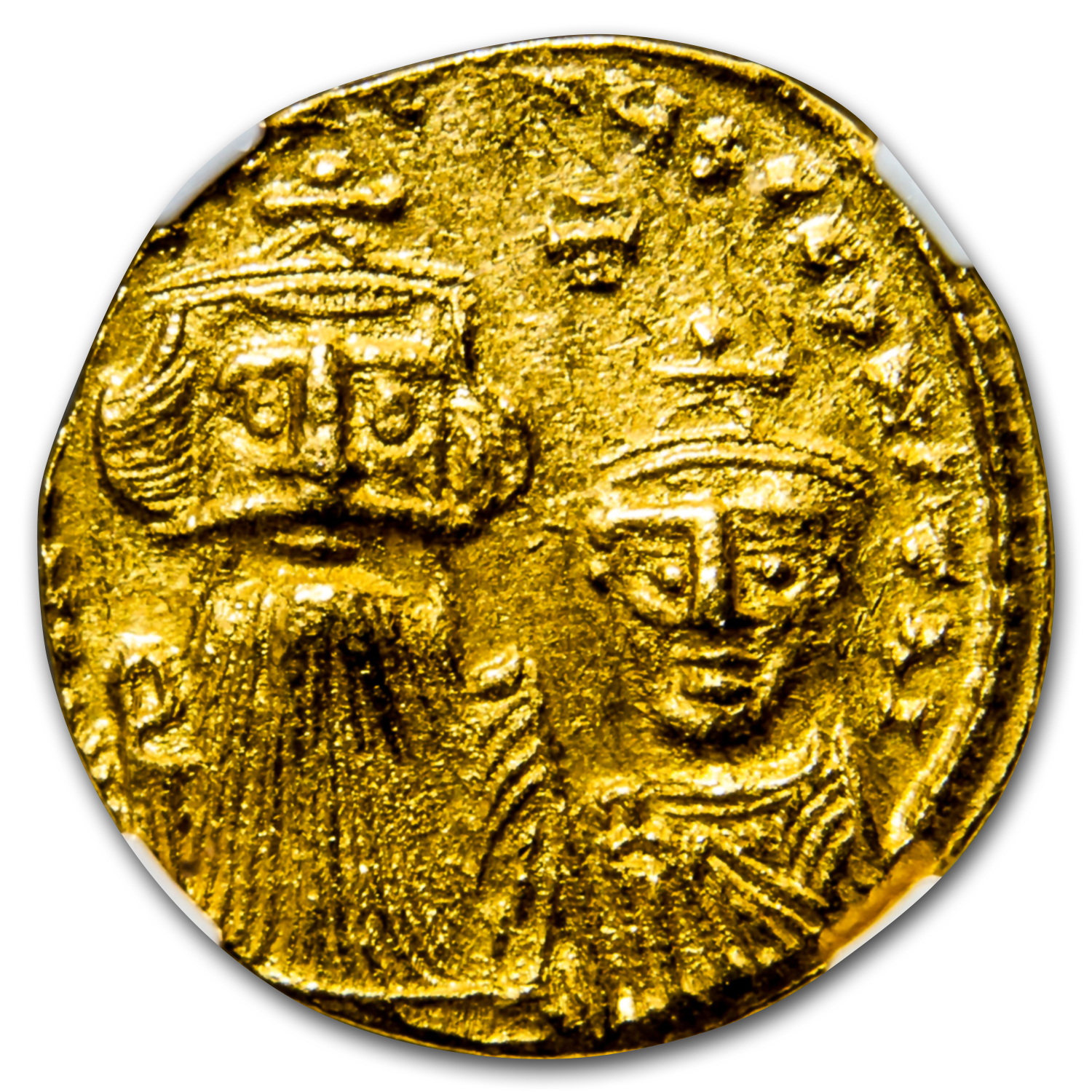 Byzantine Gold Constans II, Constant. IV (654-668 AD) Ch AU NGC