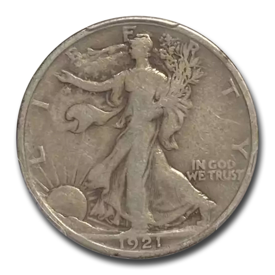1921 Walking Liberty Half Dollar VG-8 PCGS